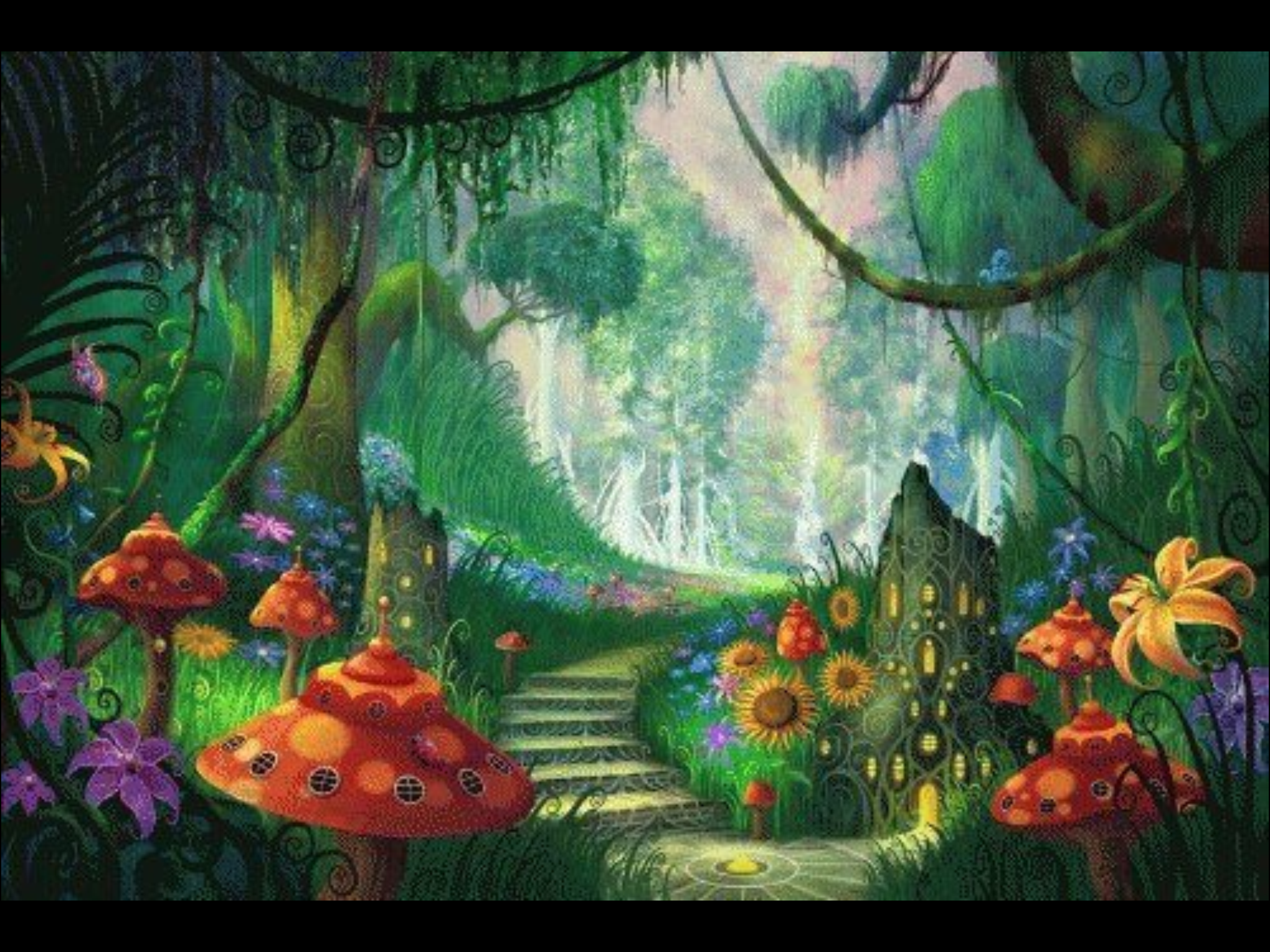 mushroom village | Fantasy, Fairies and Such | Pinterest | Fairy and ...
