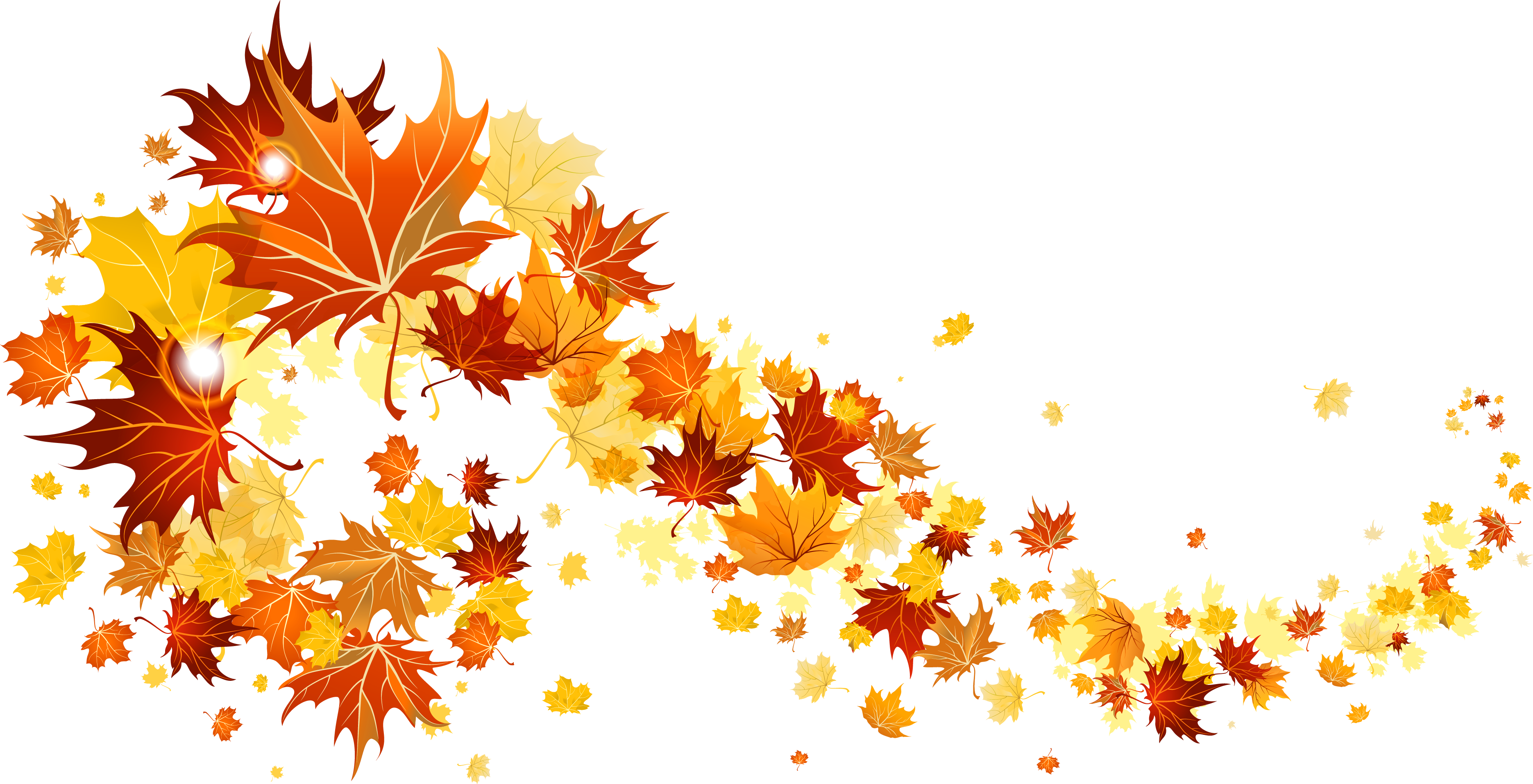 Fall Leaves Transparent Picture | Gallery Yopriceville - High ...