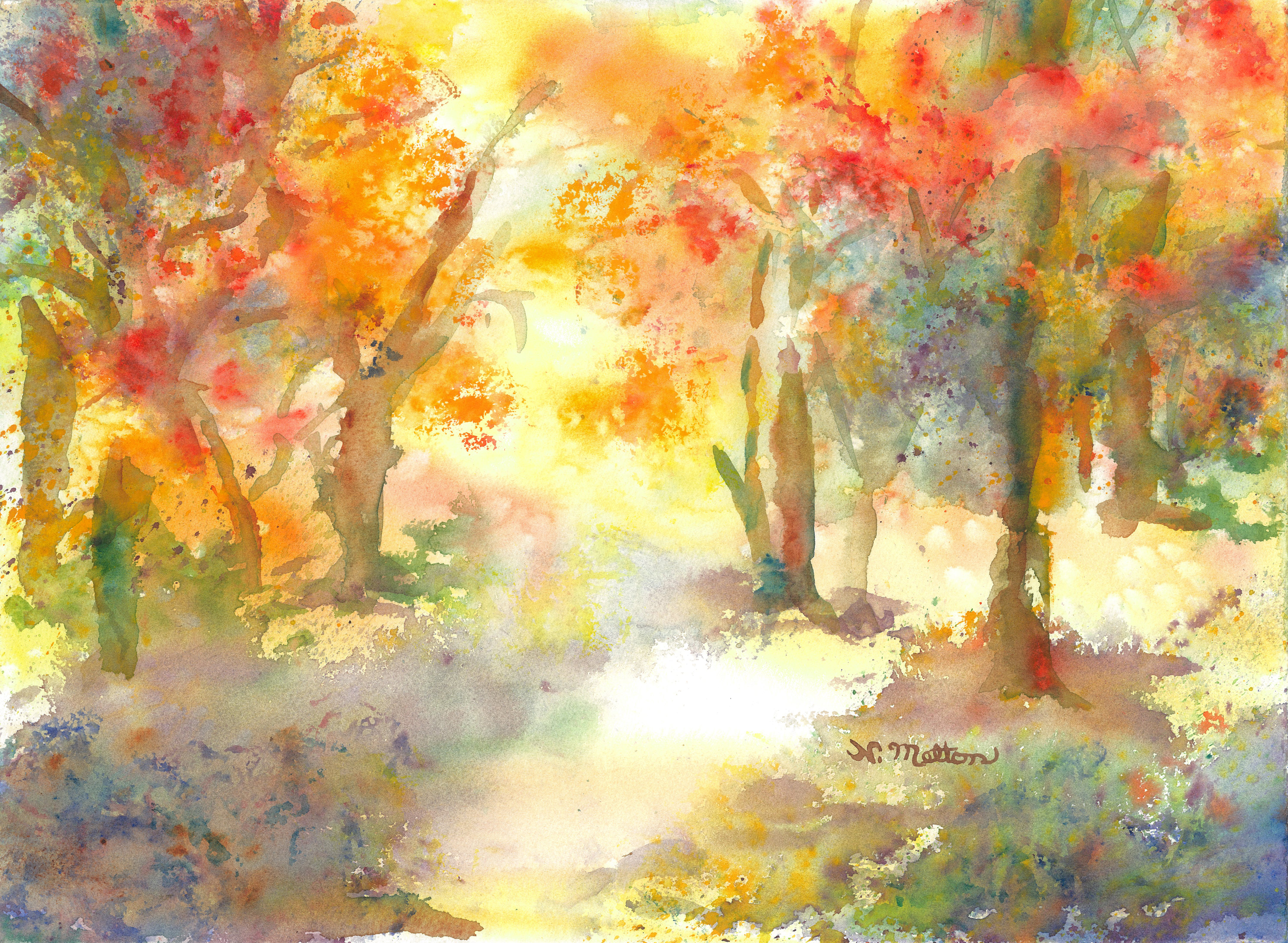 Nancy Melton's Fall Foliage in Watercolor | McNeese State University