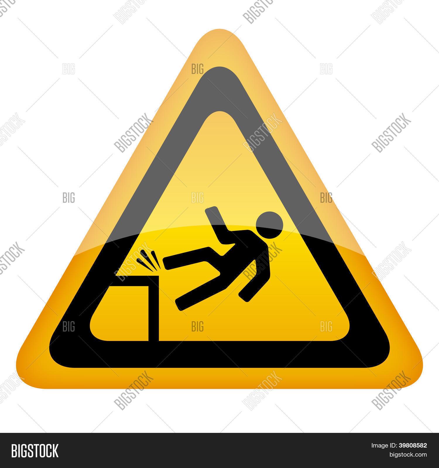 Fall danger sign photo