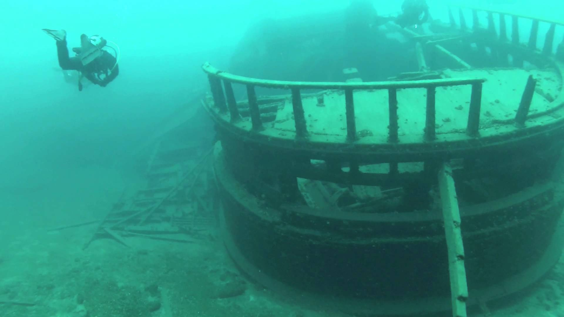 Wreck of the Forest City, Tobermory, May 2014 - YouTube