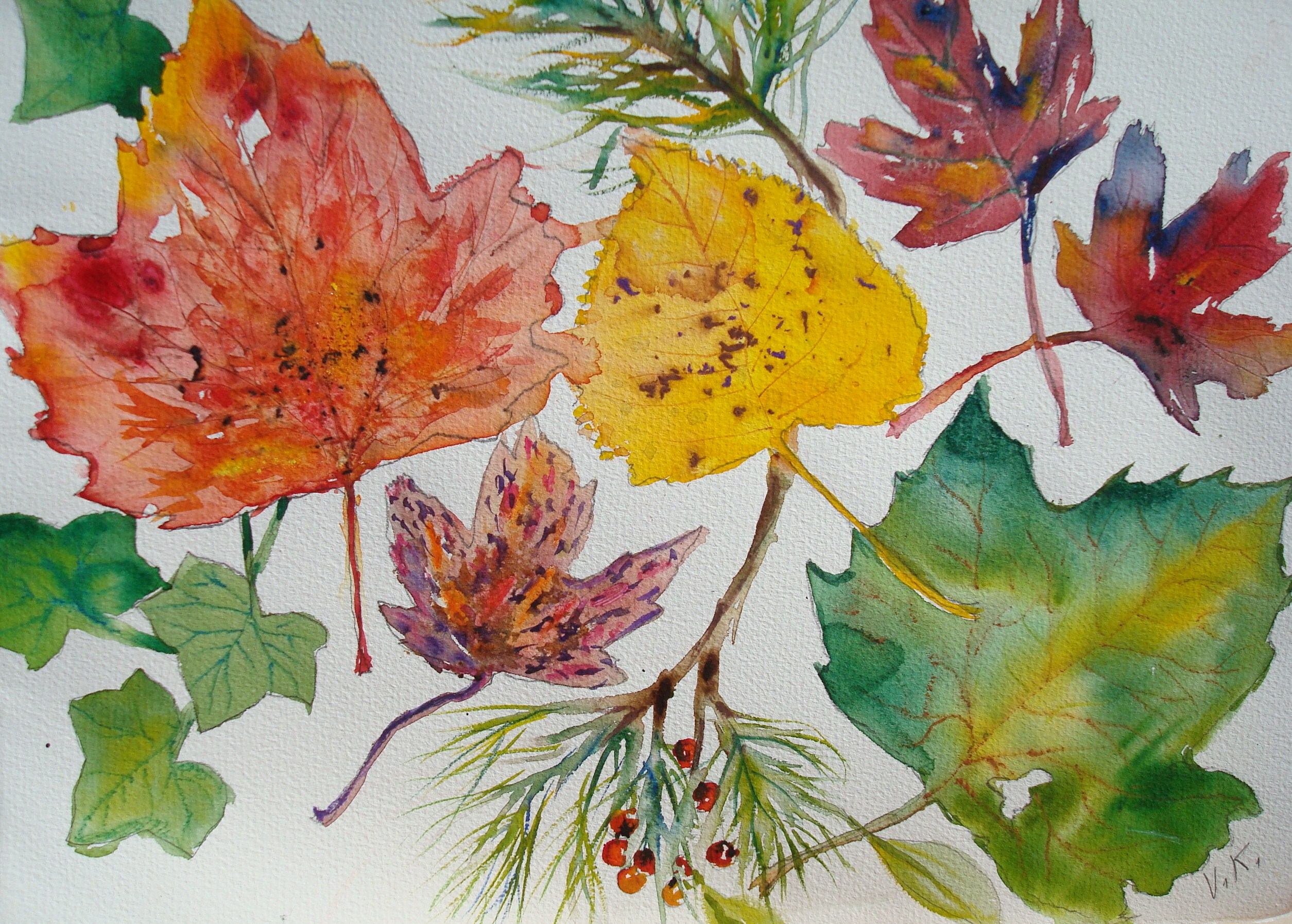 How to Paint Fall Leaves in Watercolor: 7 Steps - wikiHow