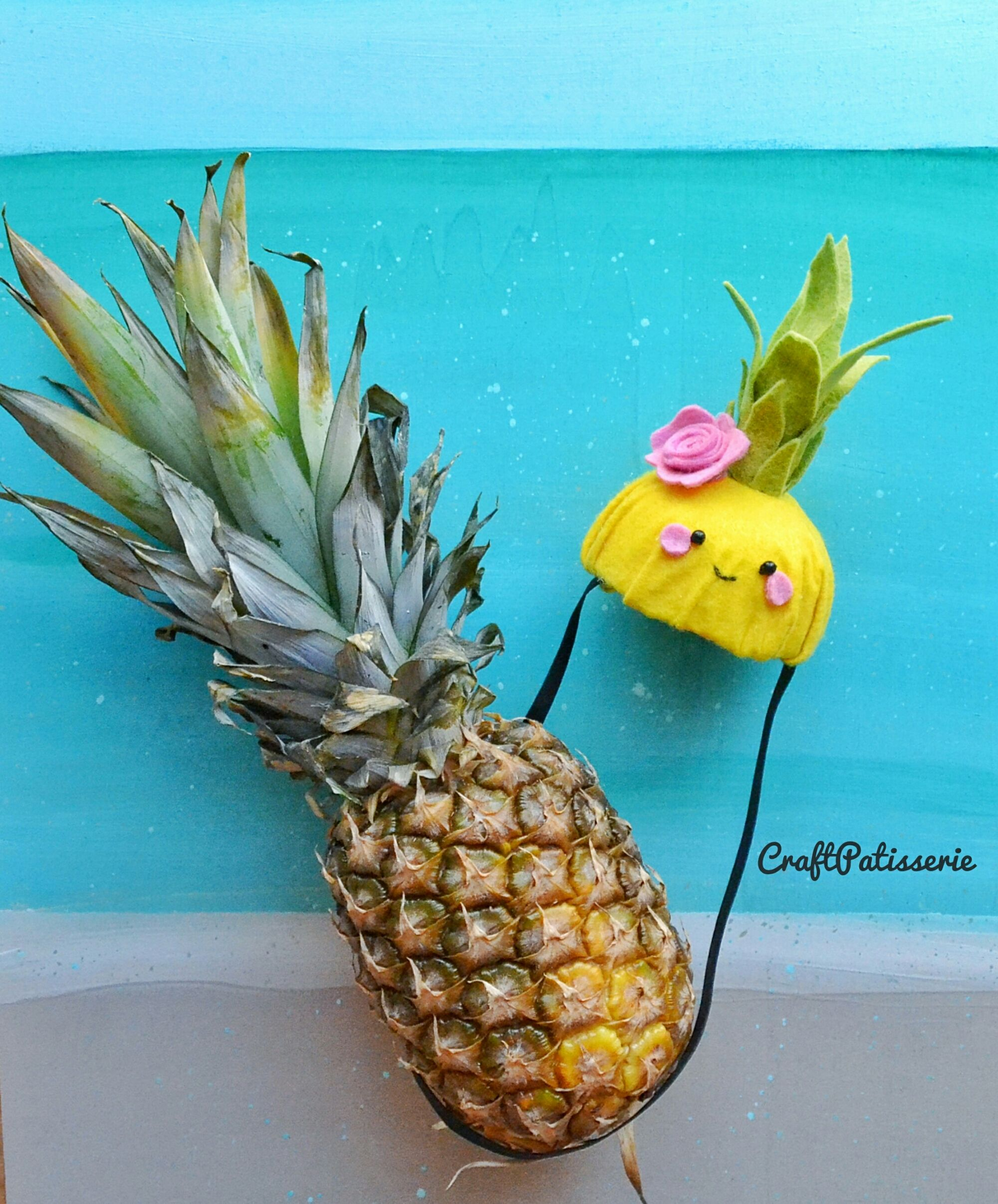 Felt Pineapple party hat, handmade CraftPatisserie | felt ...