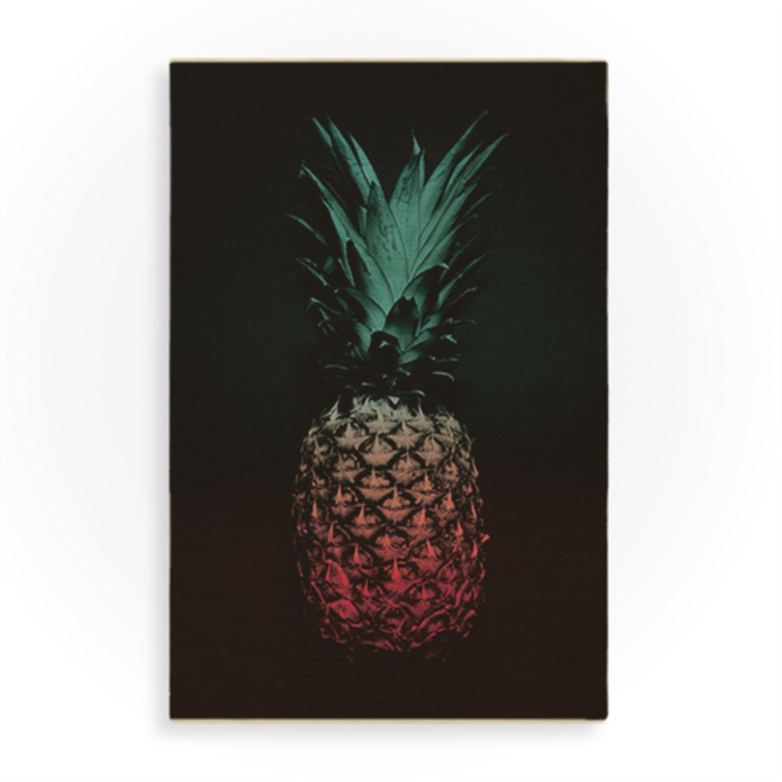 Quadro Wood Art Print Pineapple Colorido - Marca Wood Art Print ...