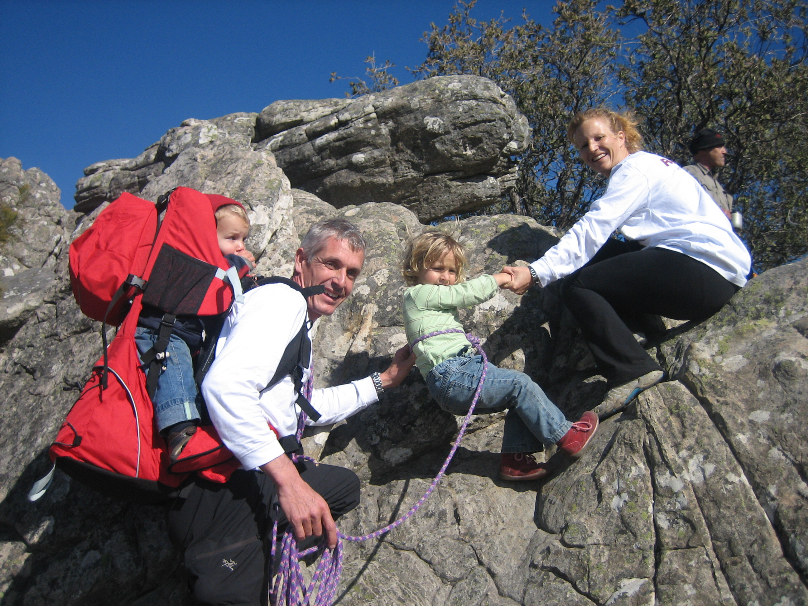 The Schoewer family climbing near Melbourne, Australia -