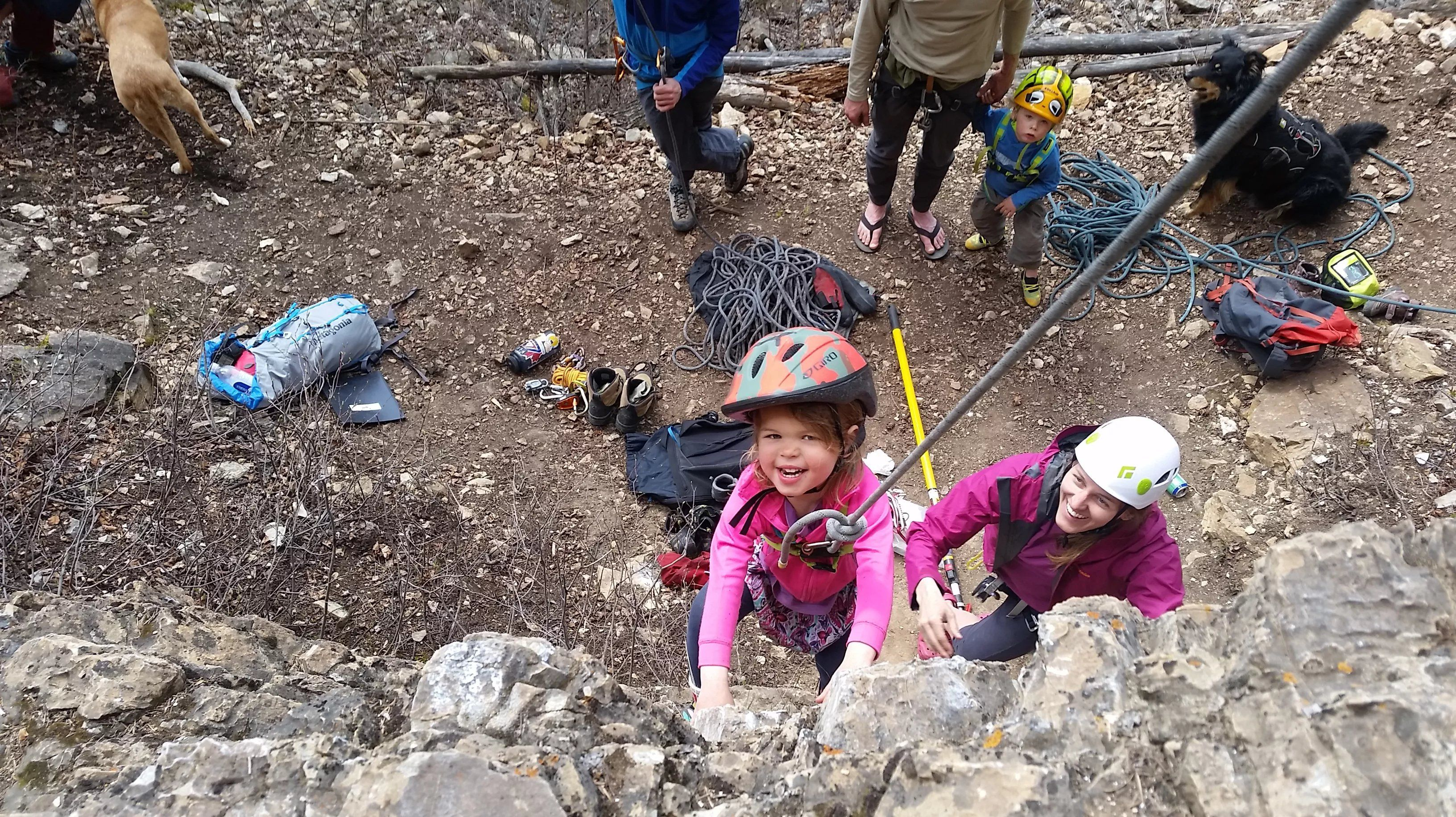 Rock climbing as a family - including toddlers in sport climbing is ...