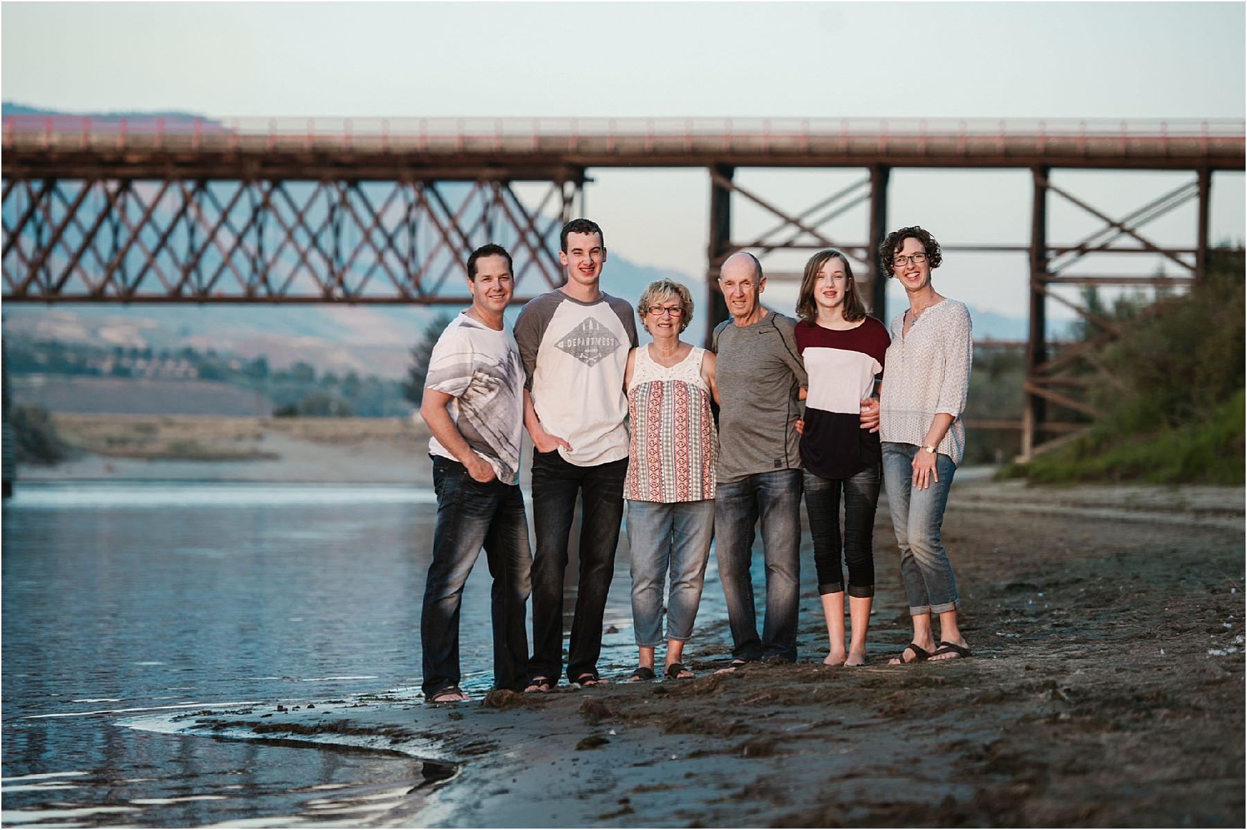 Kamloops portrait photographer family autumn sunset session river ...