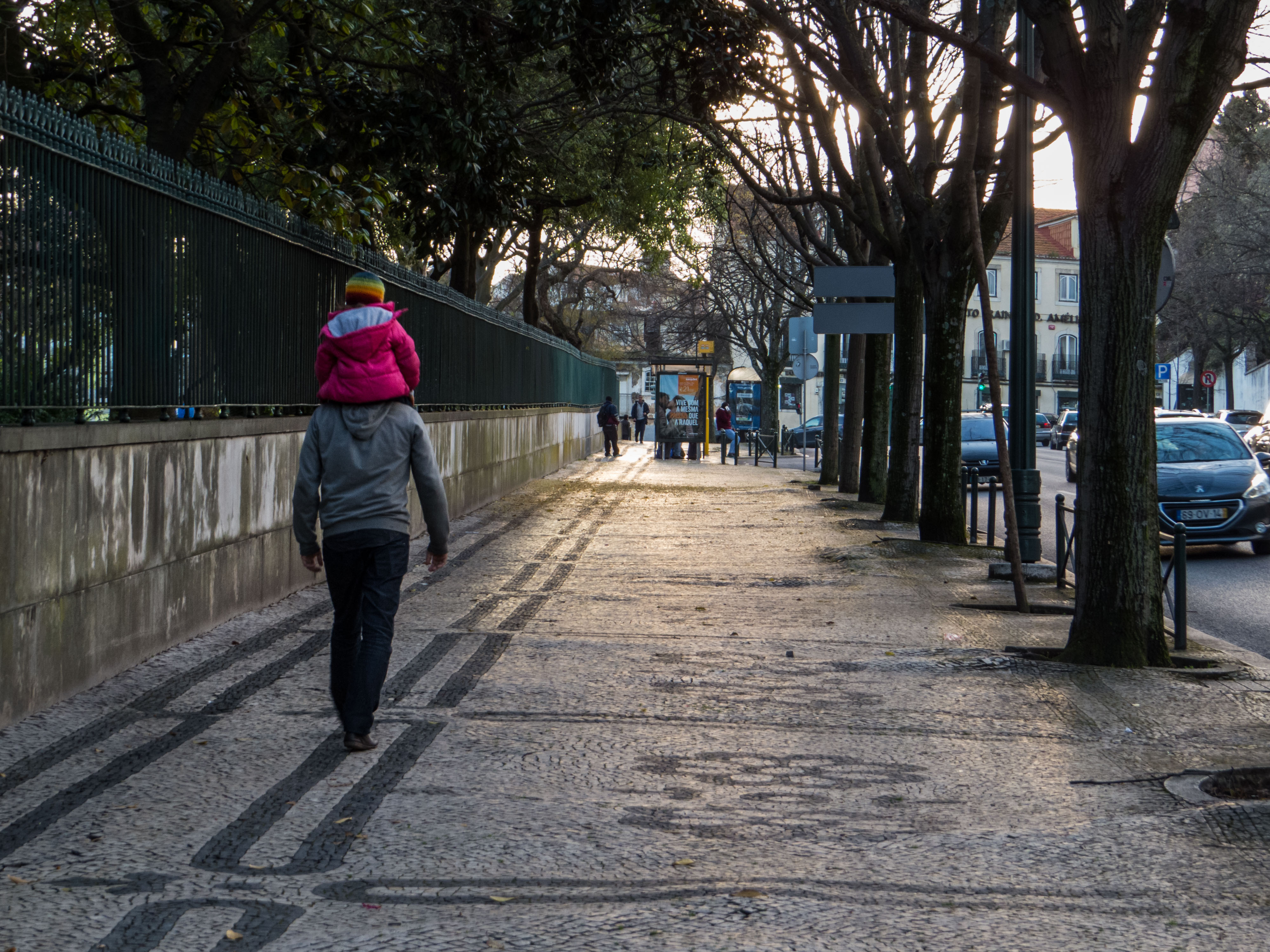 Family evening walk, People, Lovely, Portugal, Road, HQ Photo