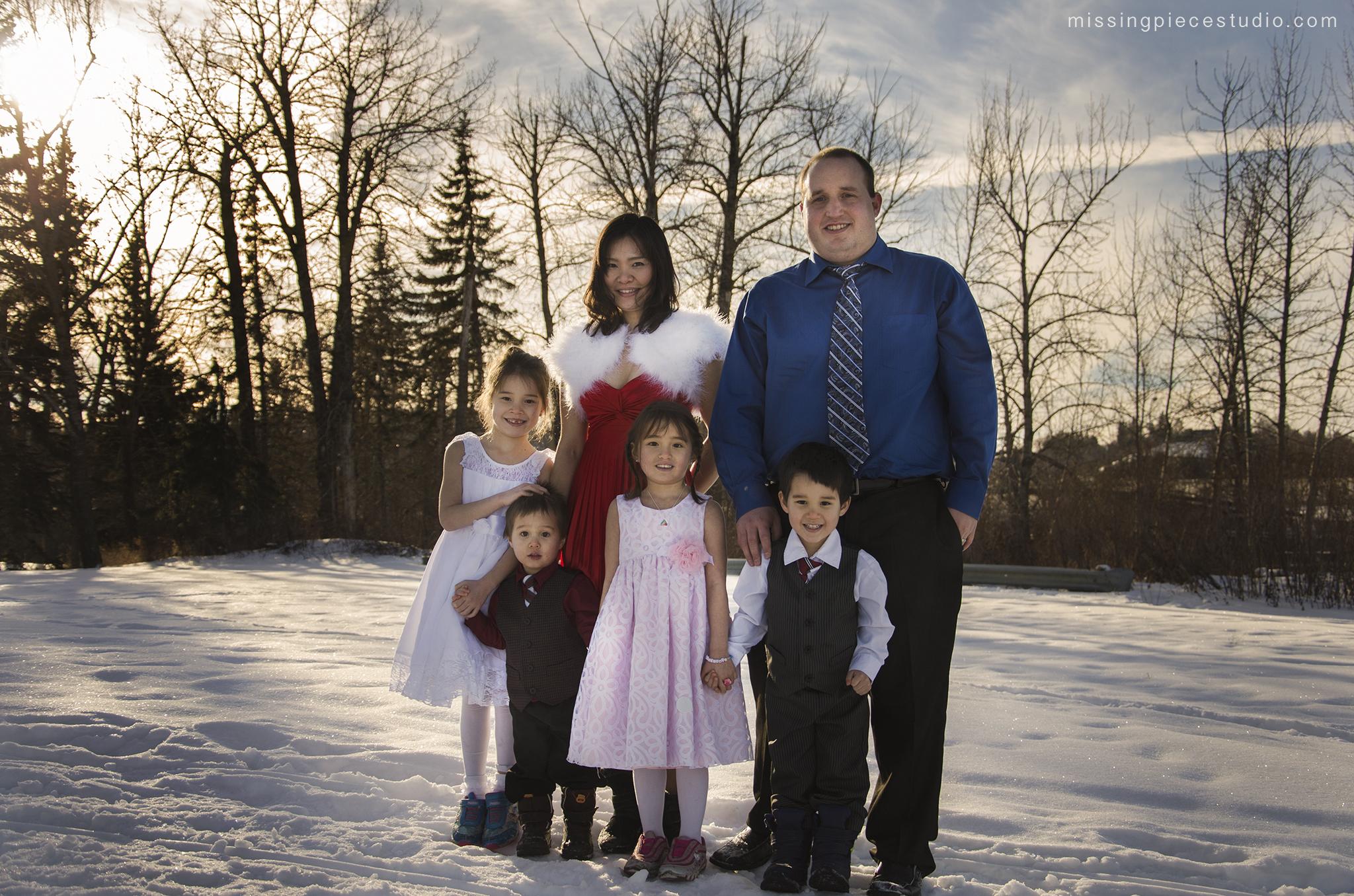 Family Frozen Winter Themed Calgary Edmonton