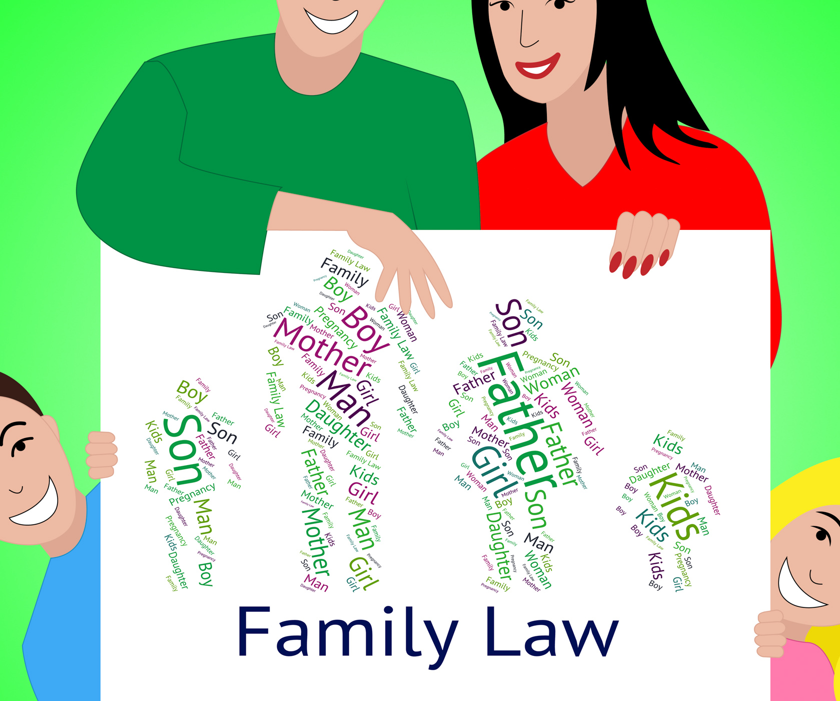 Family law shows blood relative and court photo