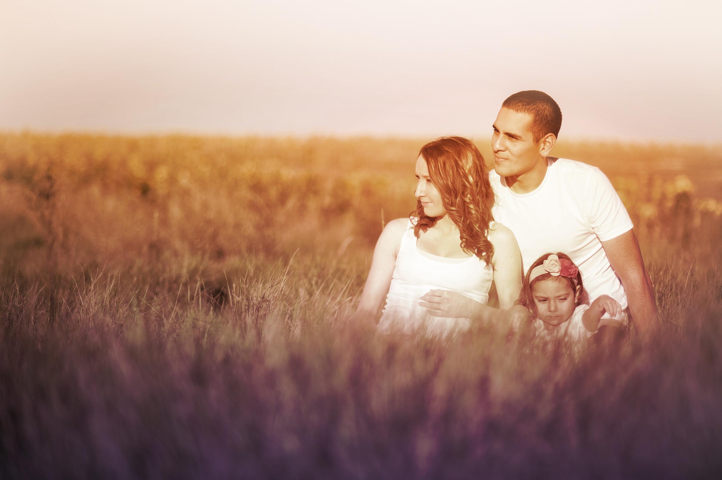 Family of Three in the Prairie, Adult, Outdoor, Pretty, Prairie, HQ Photo