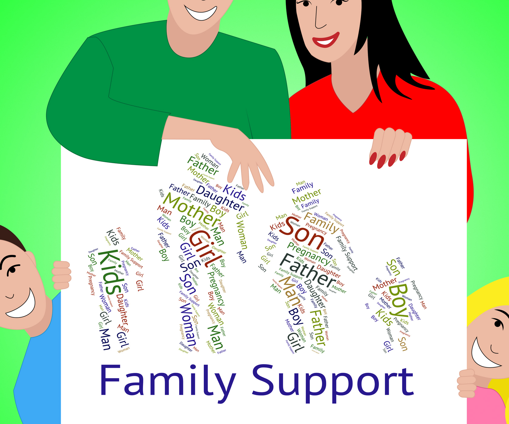 Family support represents blood relation and advice photo