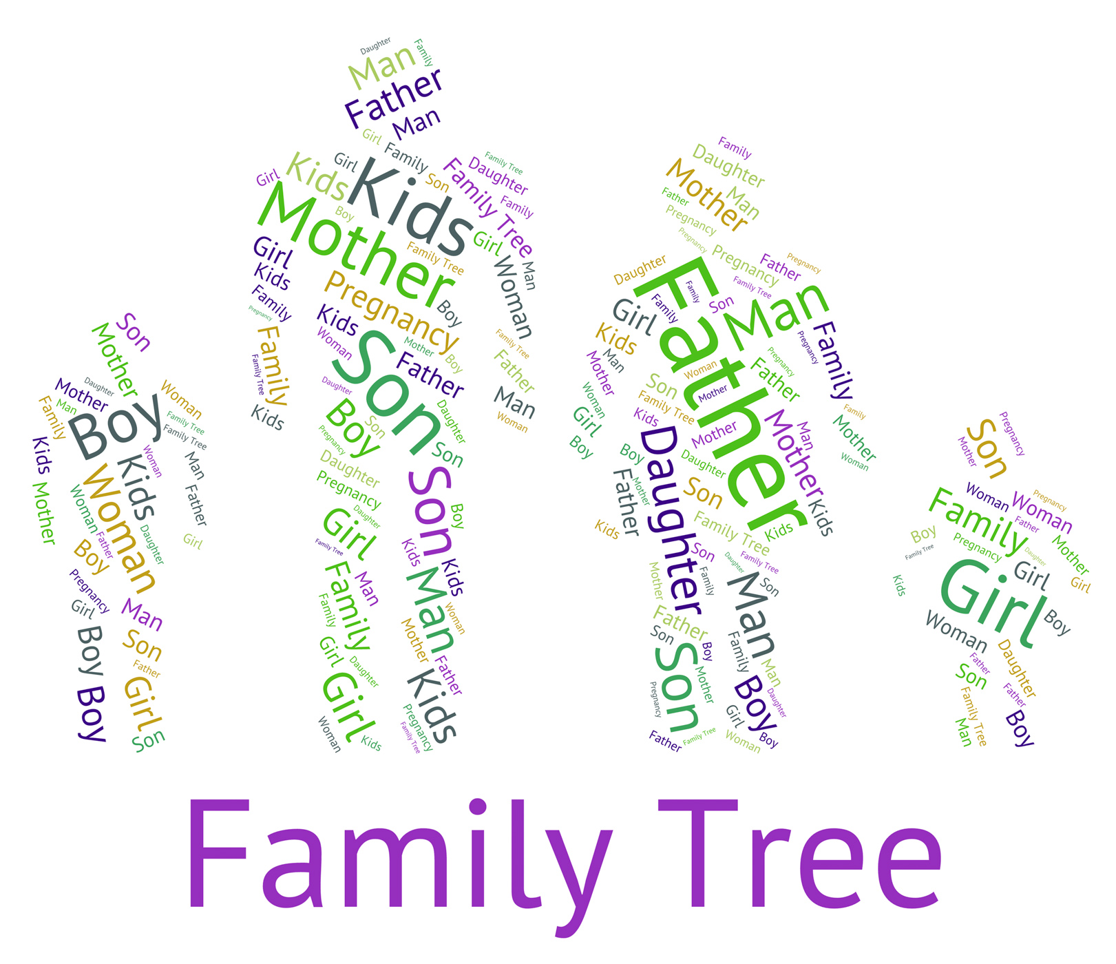 free photo family tree indicates hereditary ancestry and text