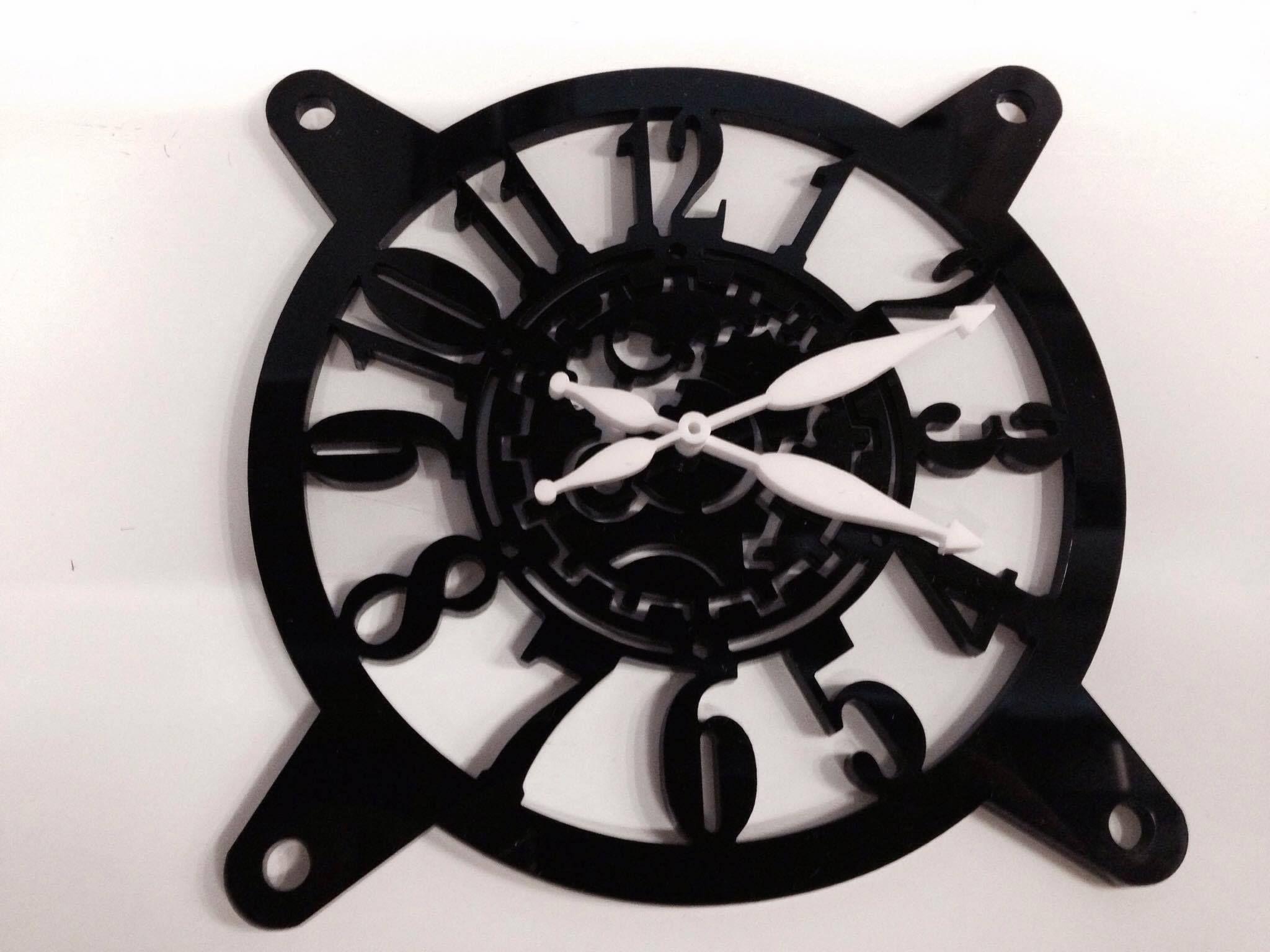 3d Grillz) 120mm Custom fan grill Laser Cut Acrylic (Clock)   Custom ...