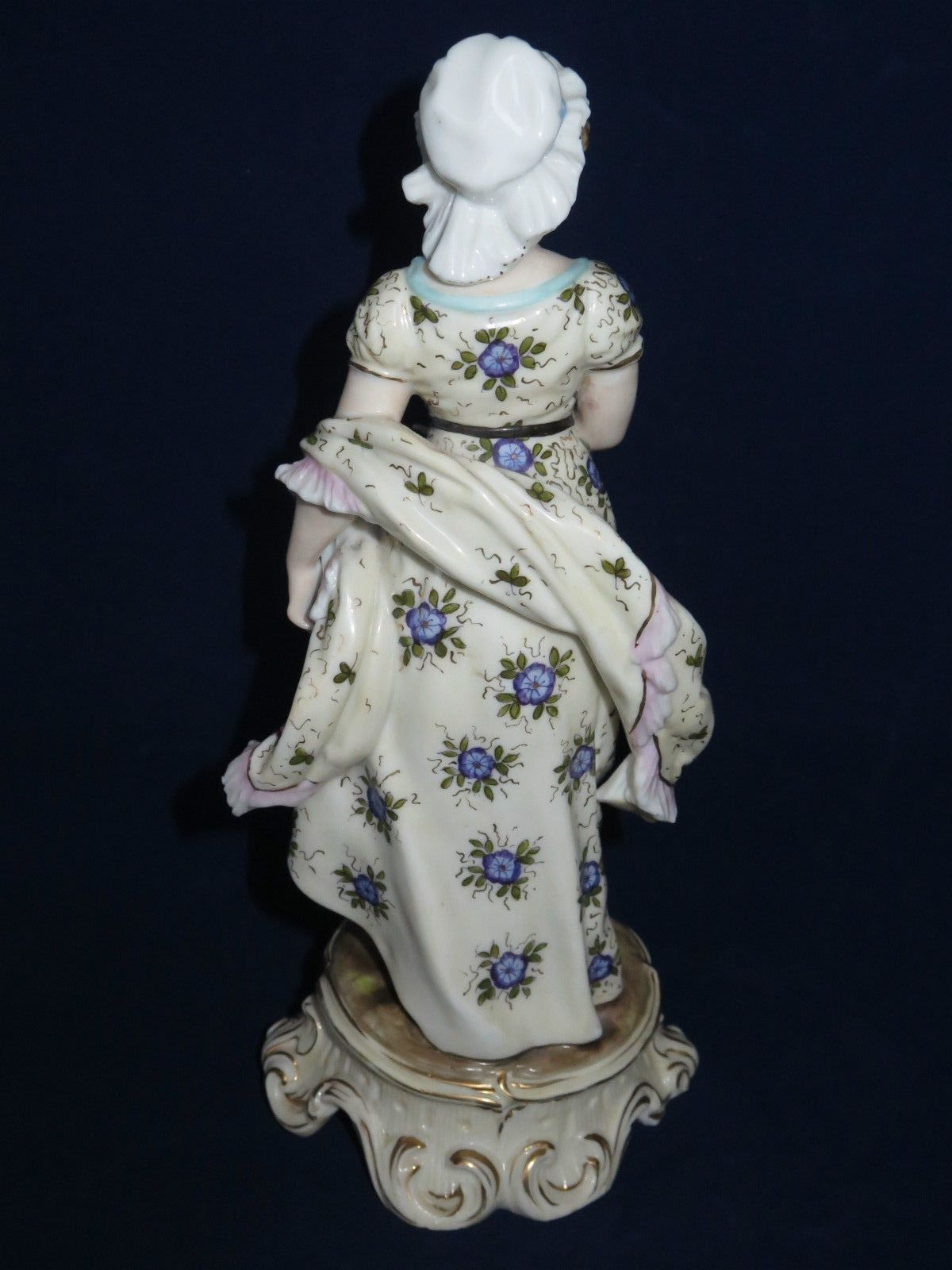 Antique Volkstedt Figurines Porcelain Man Woman Pair on Stand ...