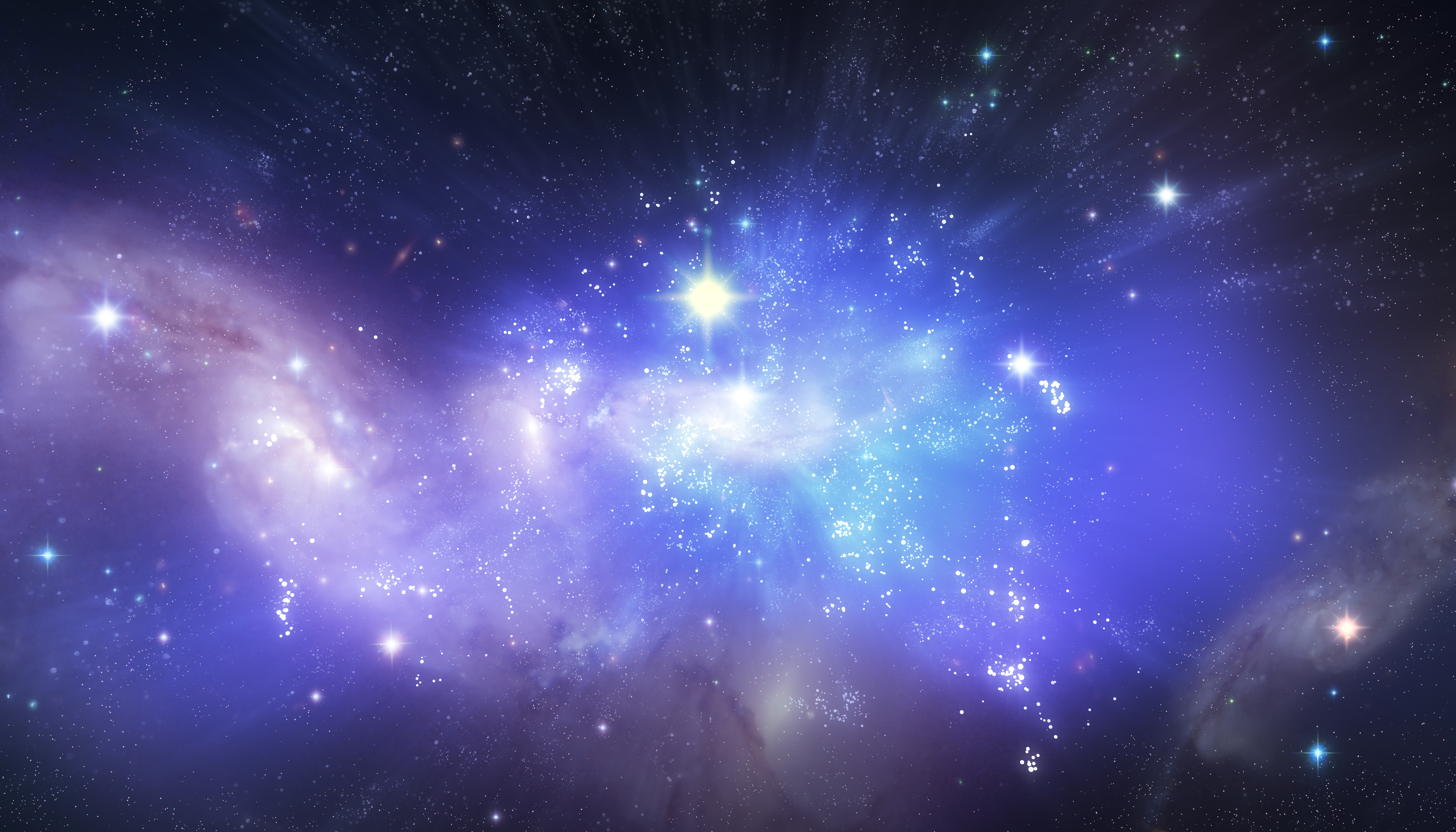 Fantasy Deep Space Night sky with stars, Abstract, Outdoor, Hydrogen, Indigo, HQ Photo
