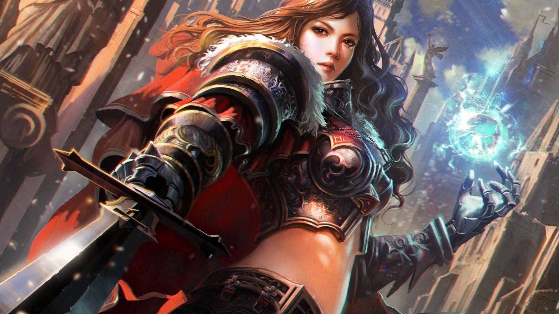 Fantasy Women Warrior Wallpaper | Fantasy | Pinterest | Woman ...