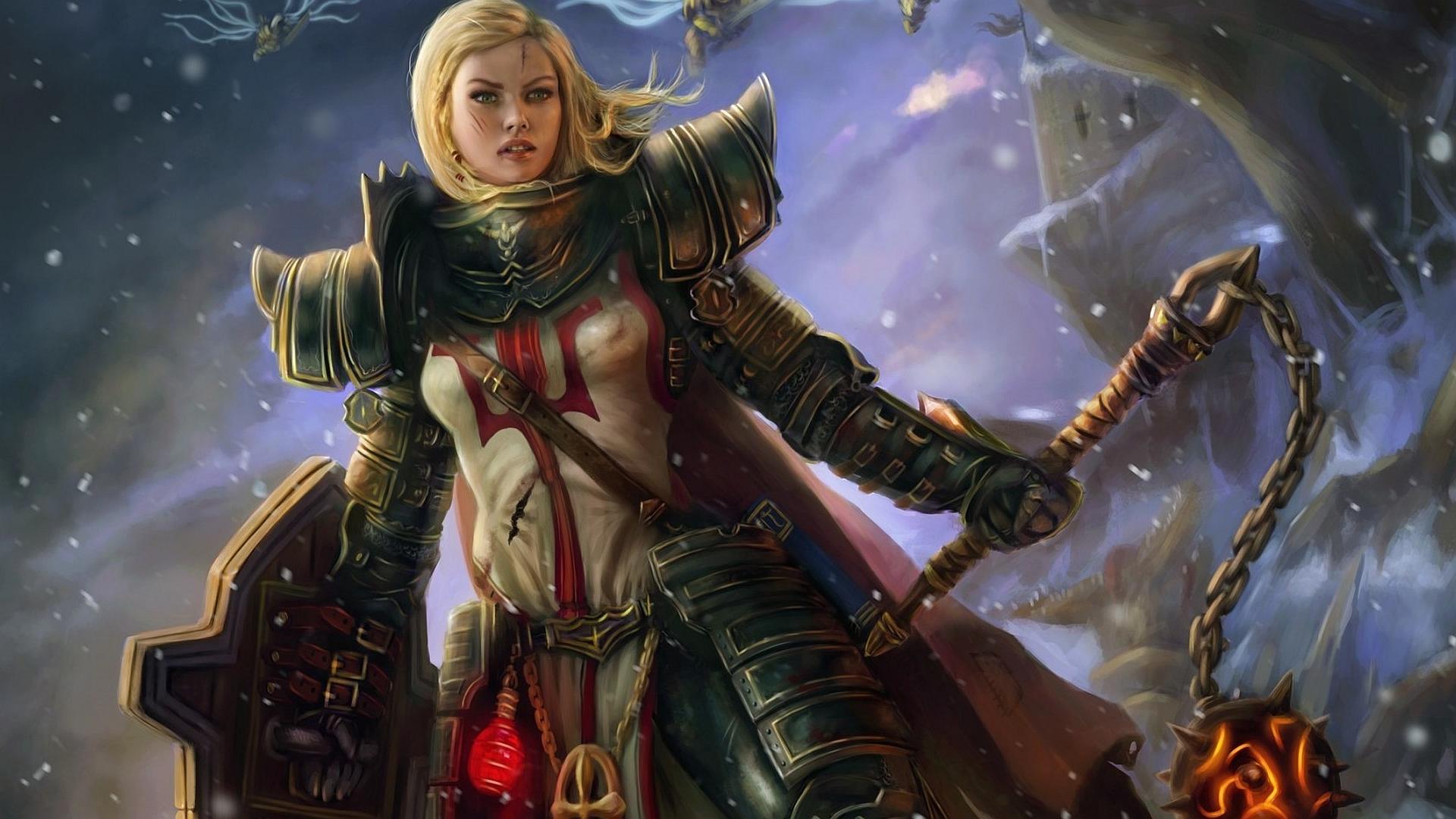 Wallpaper : video games, anime, knight, crusaders, Diablo III ...
