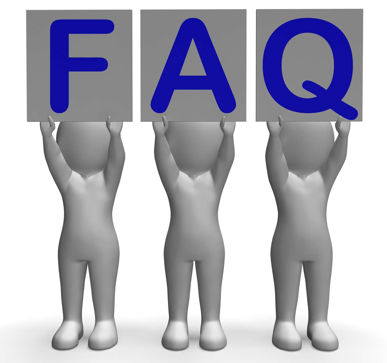 FAQ Banners Shows Frequent Assistance And Support, 3dcharacter, Information, Solution, Questions, HQ Photo
