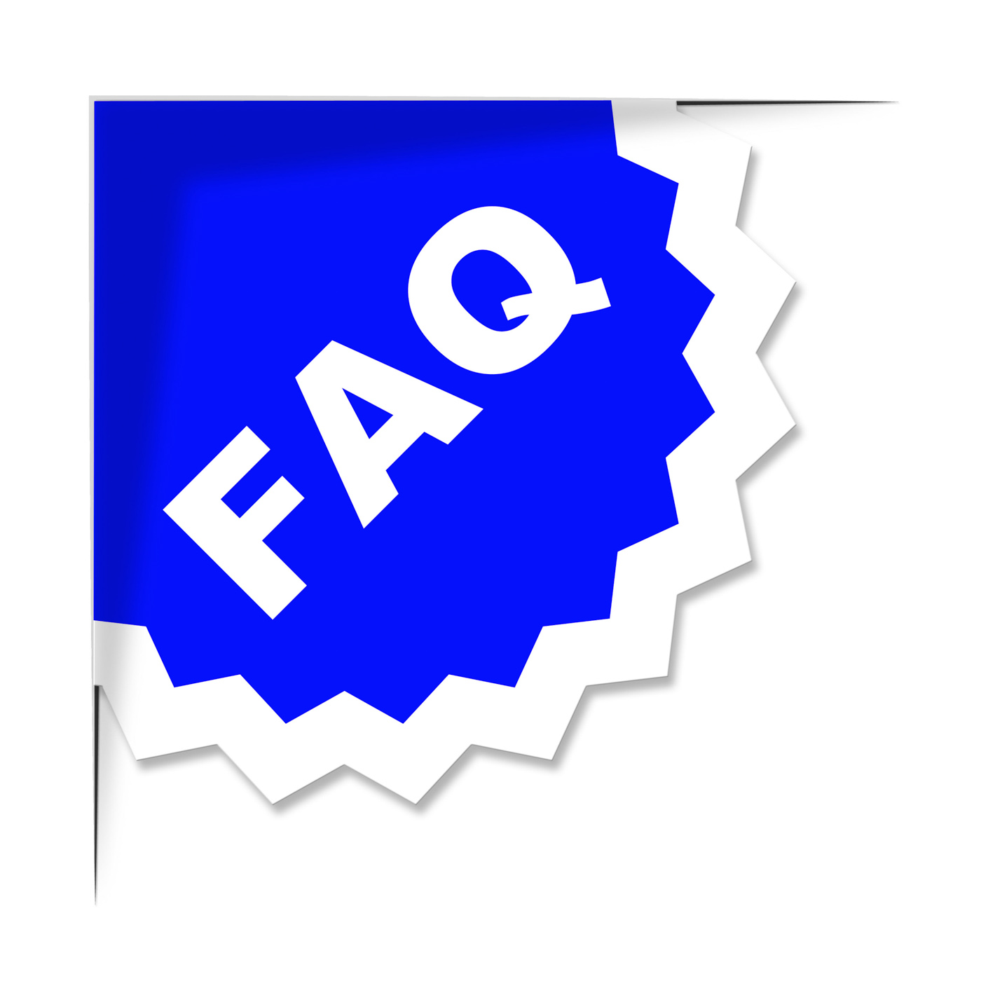 Faq label represents frequently asked questions and advice photo
