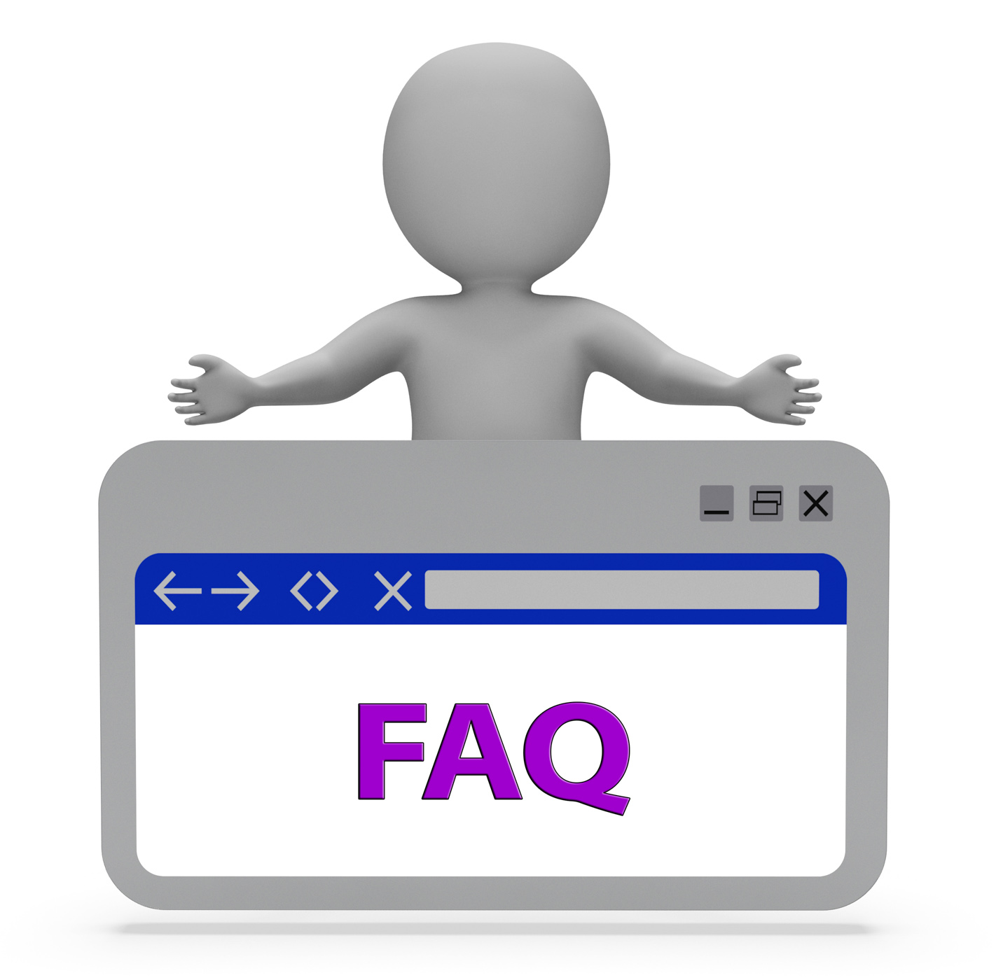 Faq webpage means frequently asked questions 3d rendering photo