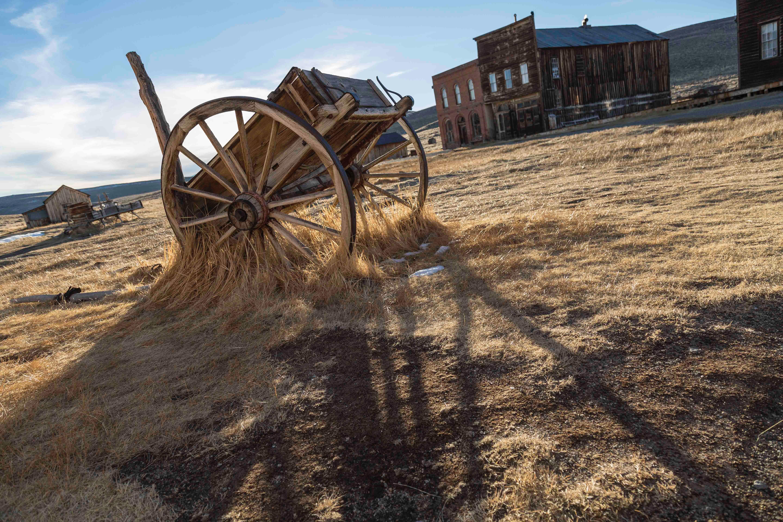 Farm Against Sky, Abandoned, Landscape, Wood, Wagon, HQ Photo