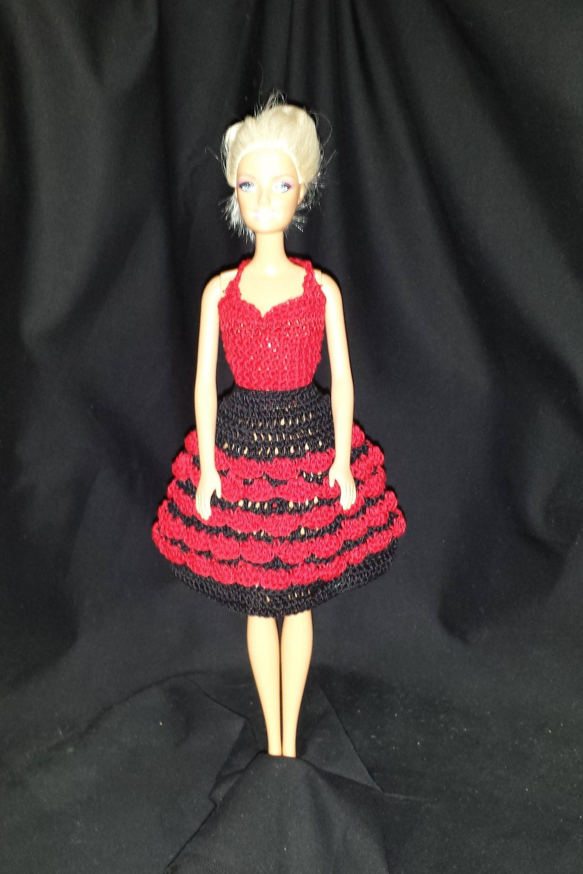 Ruffled Skirt and Halter Top For Barbie or Fashion Doll 11 1/2 ...