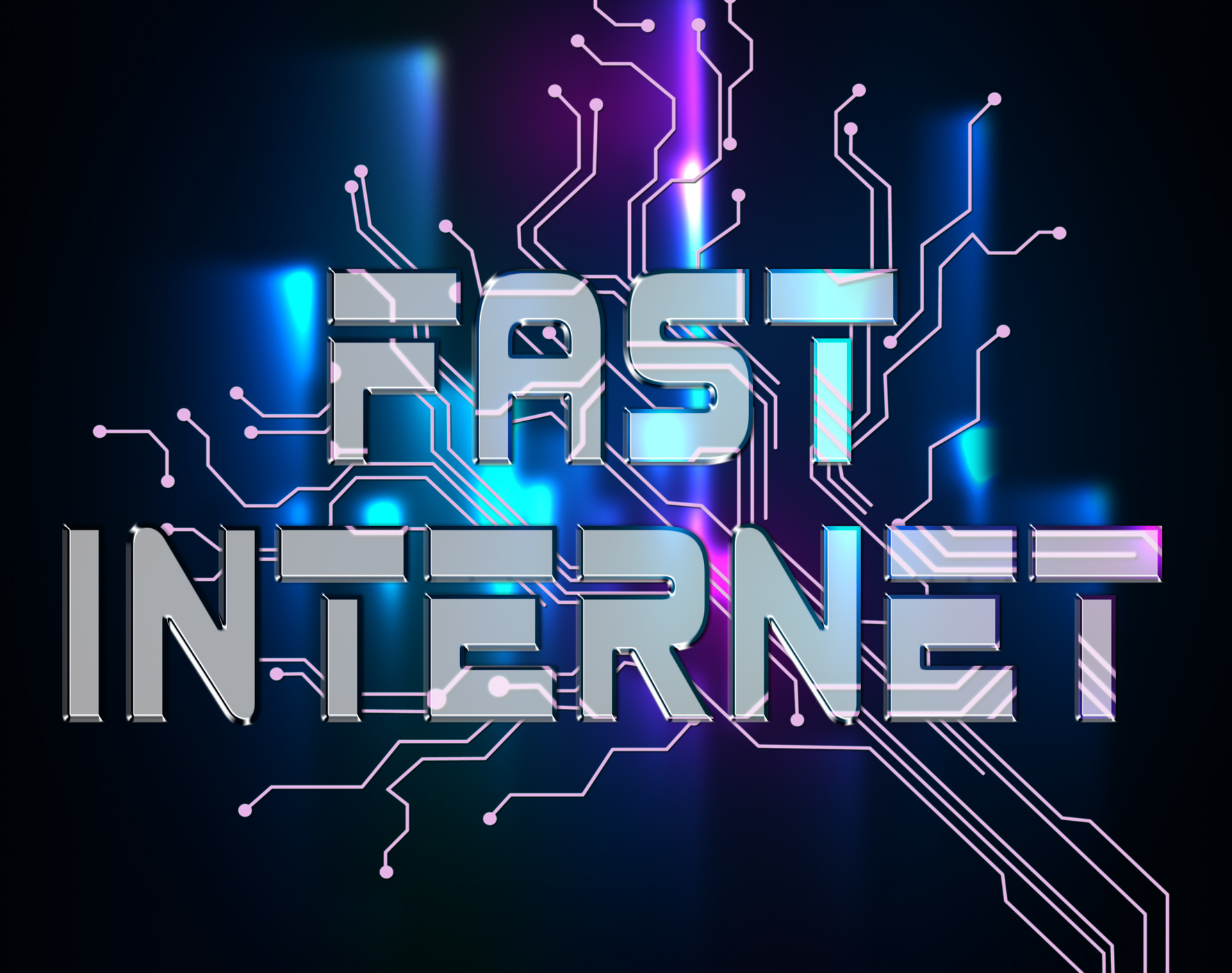 Fast internet means high speed and accelerated photo