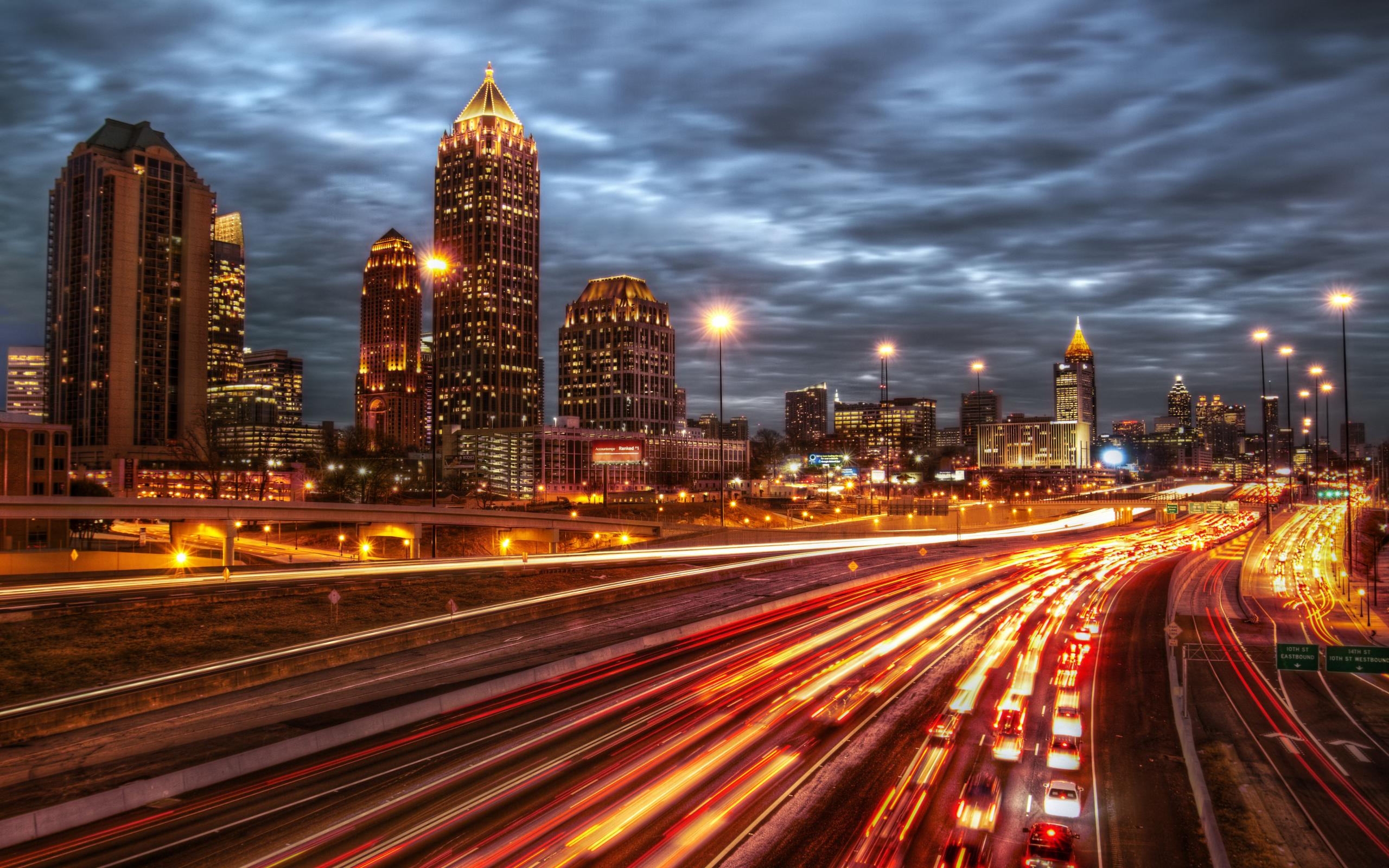Atlanta City Night In High Resolution | Atlanta Georgia | Pinterest ...