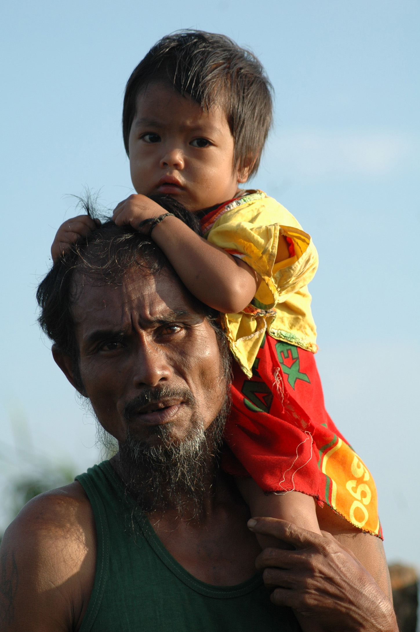 Father, Beard, Bspo06, Carry, Child, HQ Photo