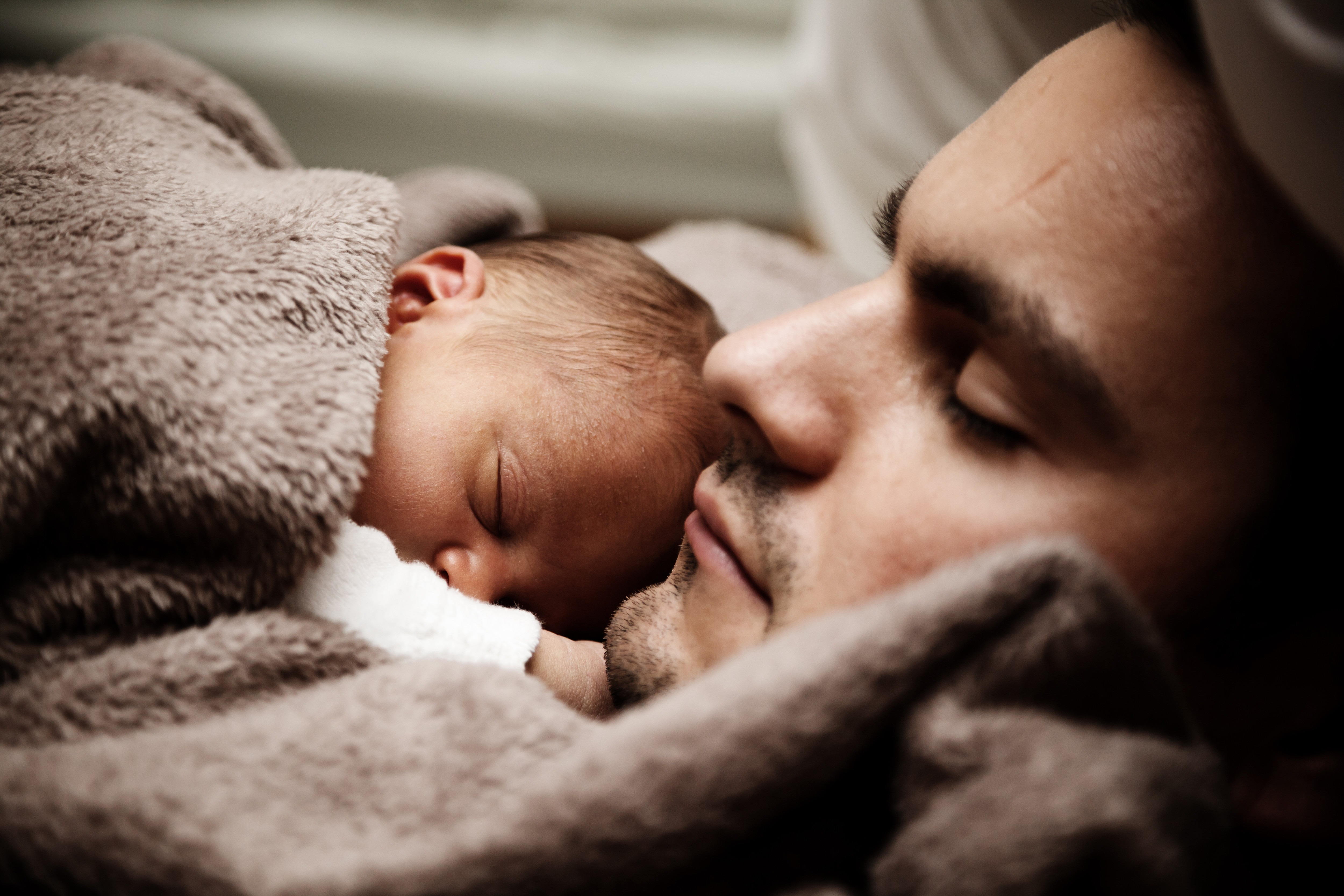 Father and Baby, Activity, Affection, Baby, Father, HQ Photo