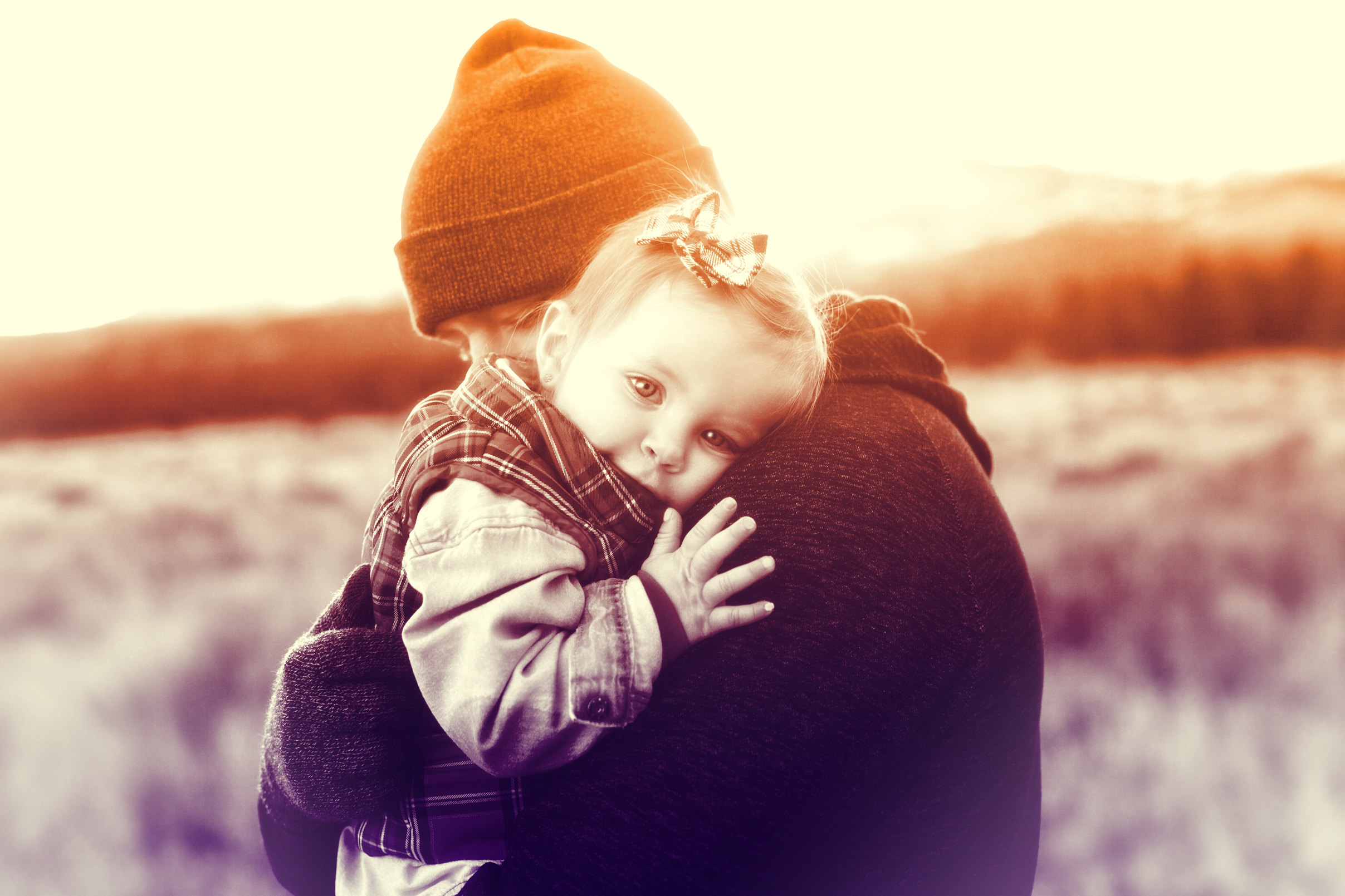 Father Love - A Father Holding Her Baby Girl, Away, Offspring, Pickingup, Person, HQ Photo