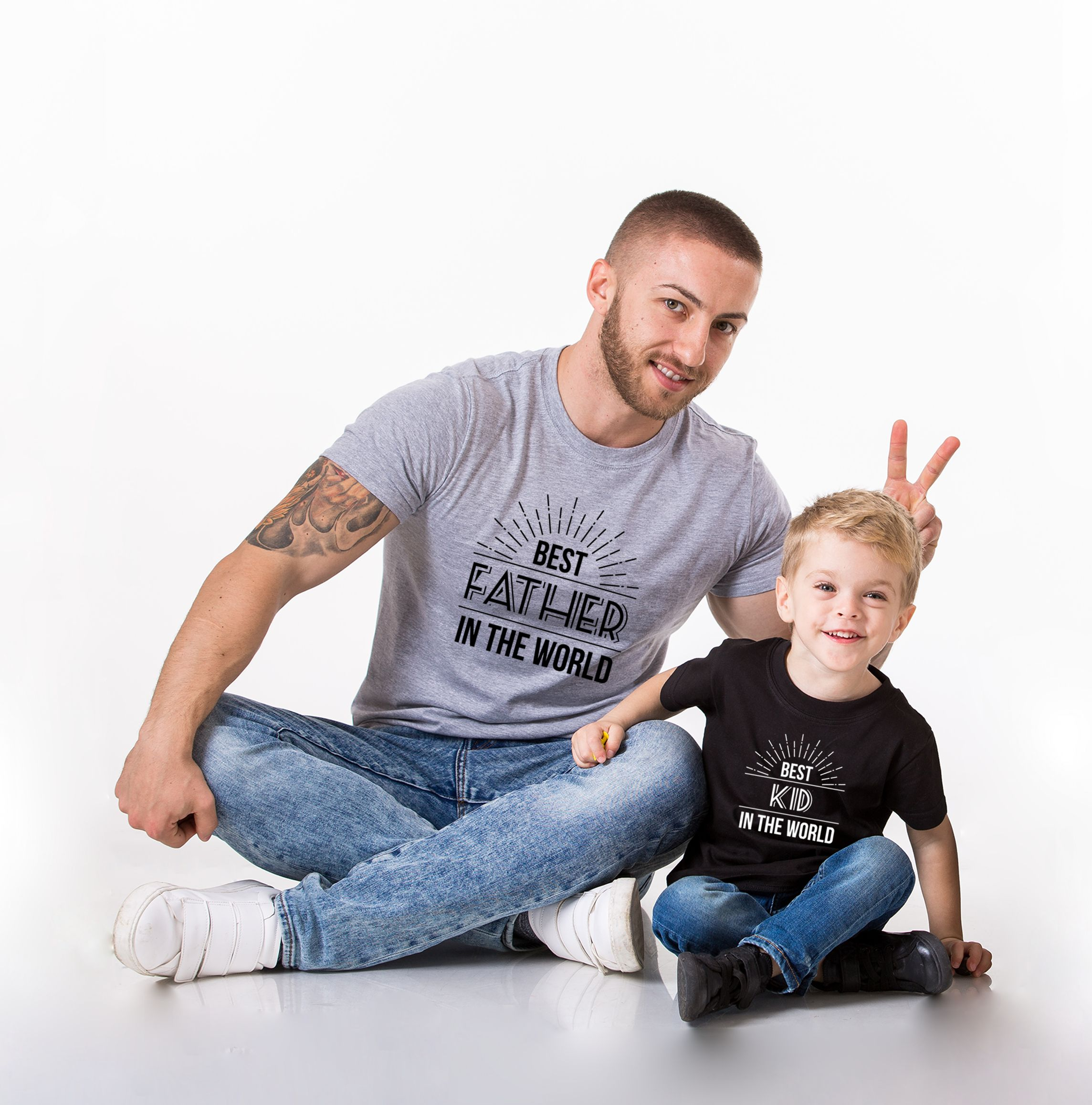 Father with kid photo