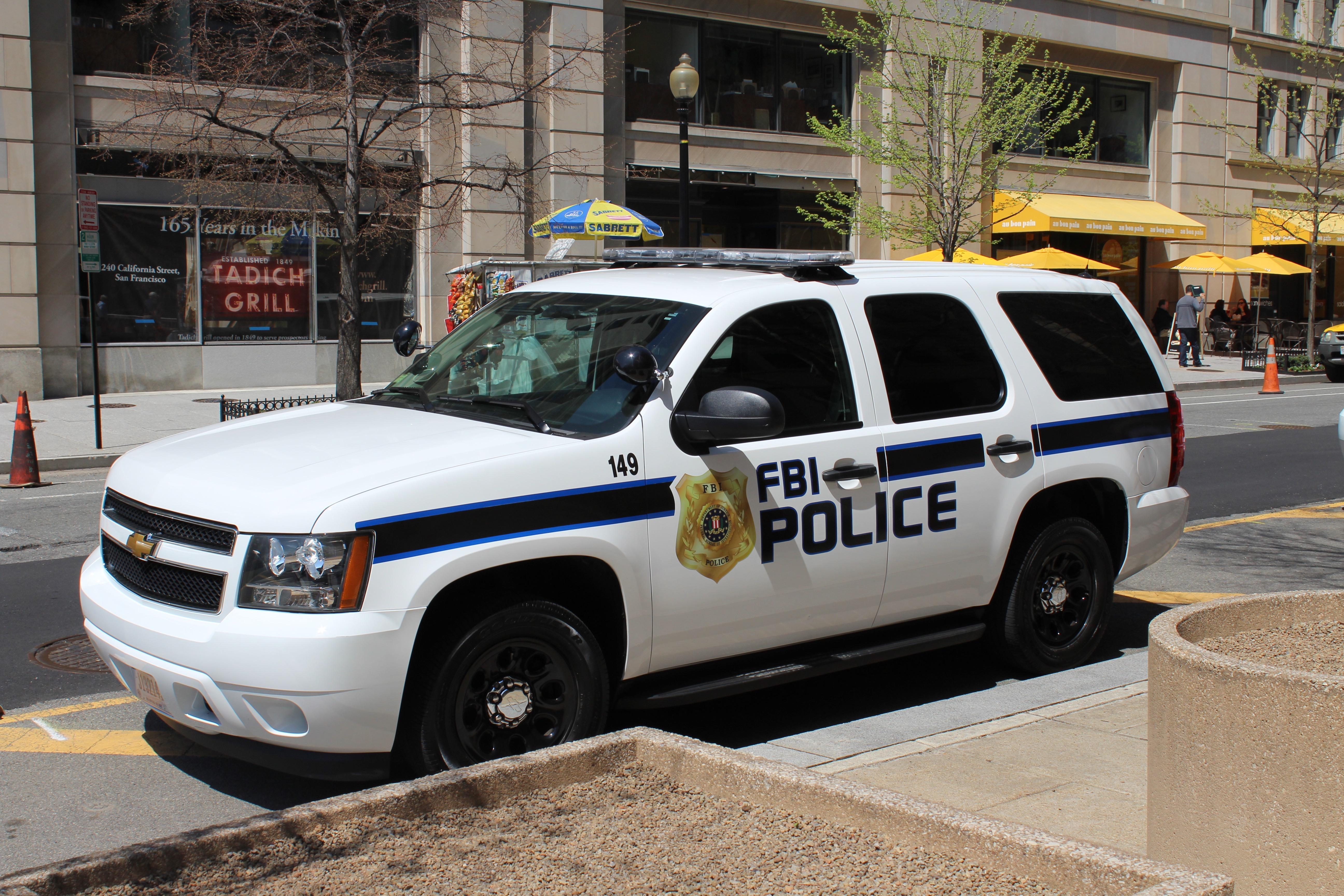 FBI Police Chevy Tahoe, Vehicle, Washington dc, Tahoe, Police, HQ Photo