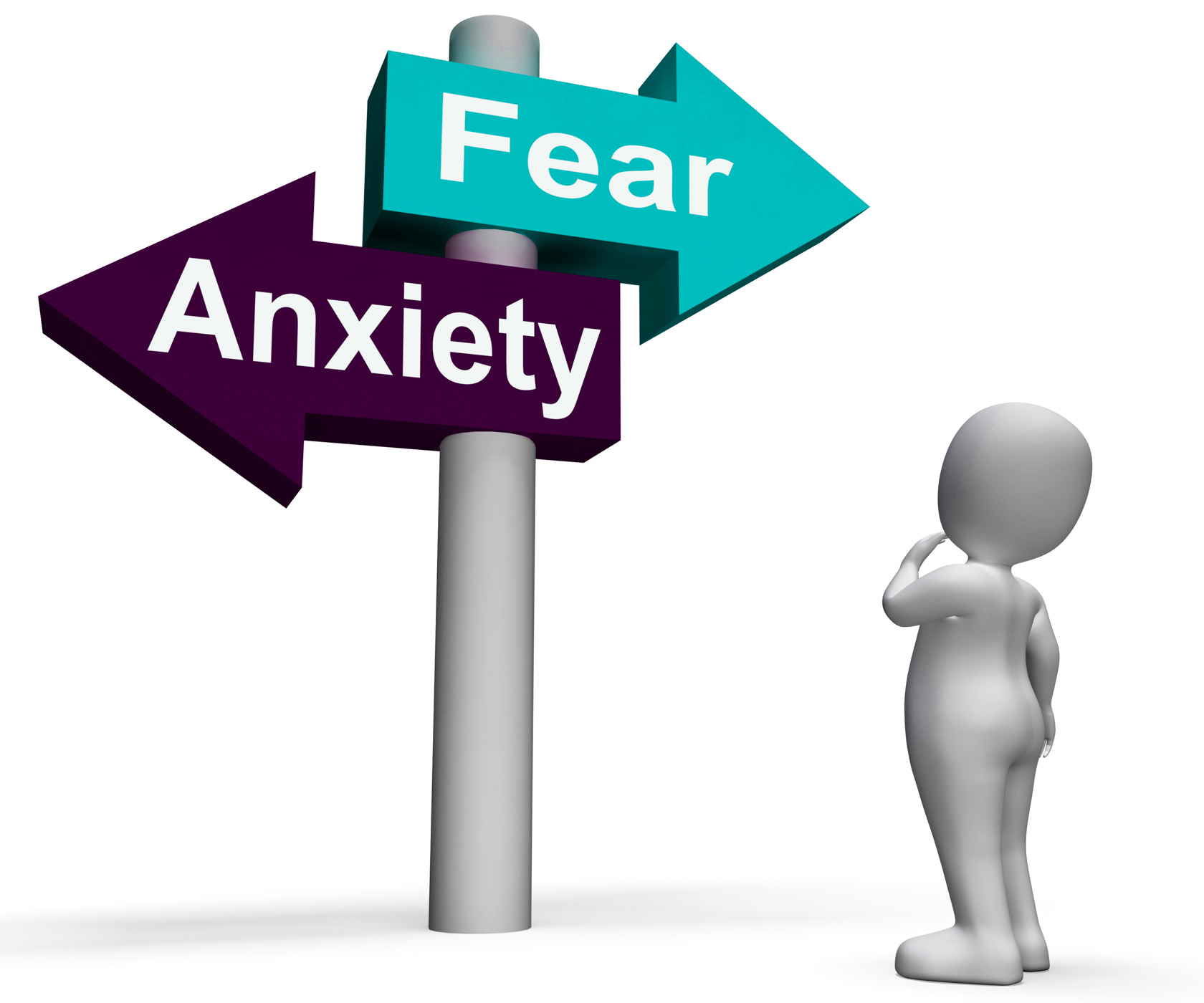 Fear Anxiety Signpost Shows Fears And Panic, Panic, Nervous, Panicked, Nerves, HQ Photo