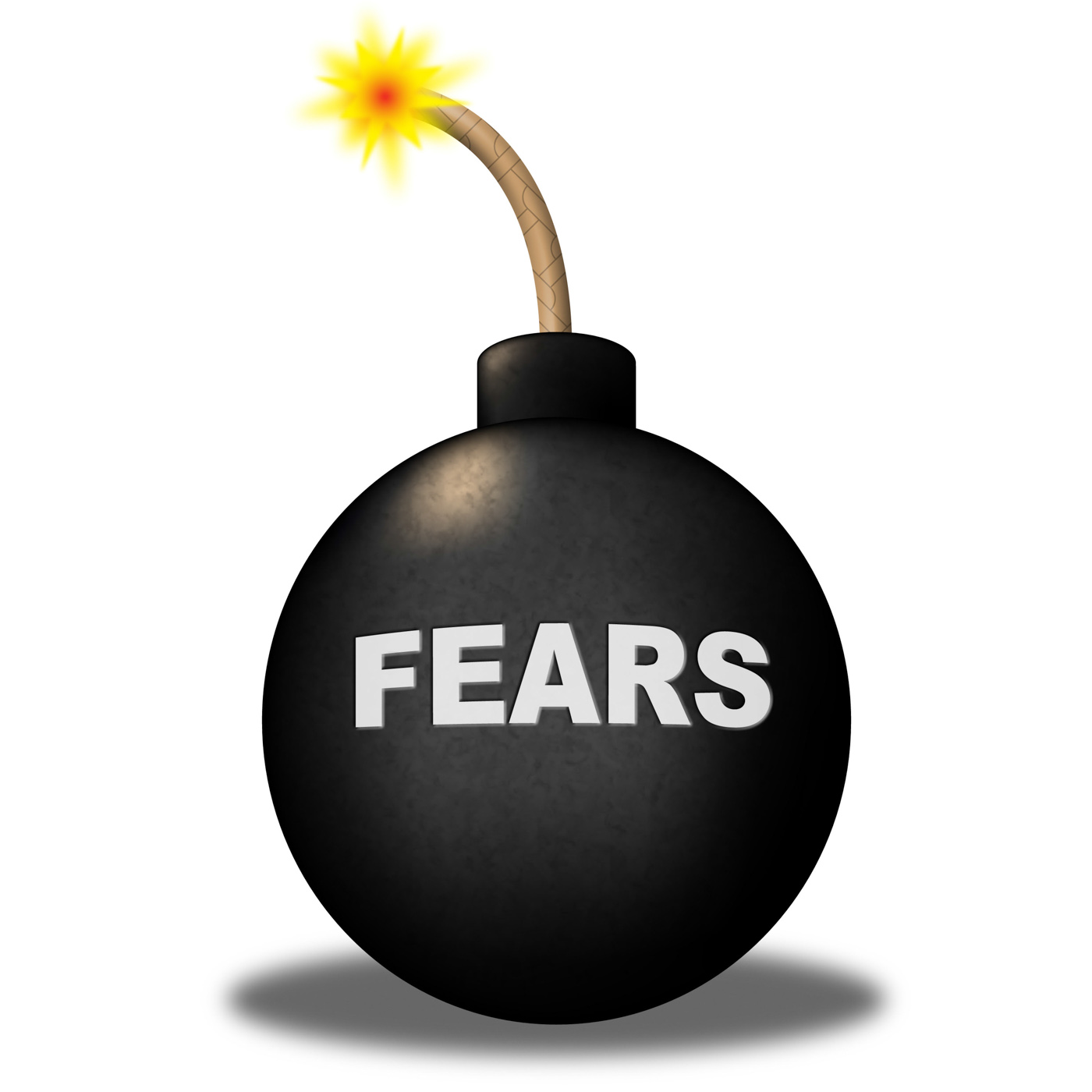 Fears alert shows frightened worry and explosive photo