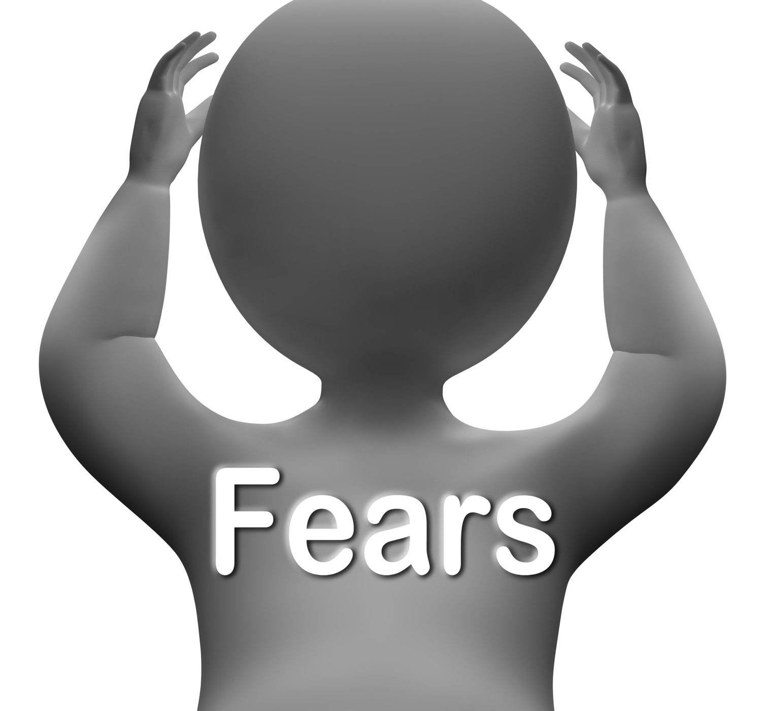 Fears character means worries anxieties and concerns photo