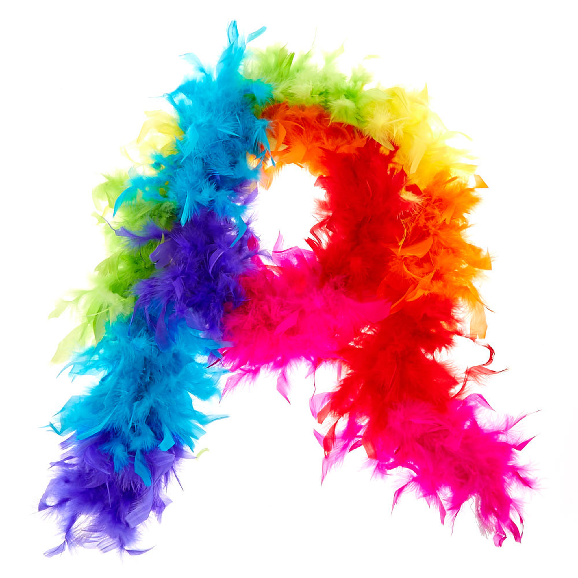 Rainbow Feather Boa | Claire's