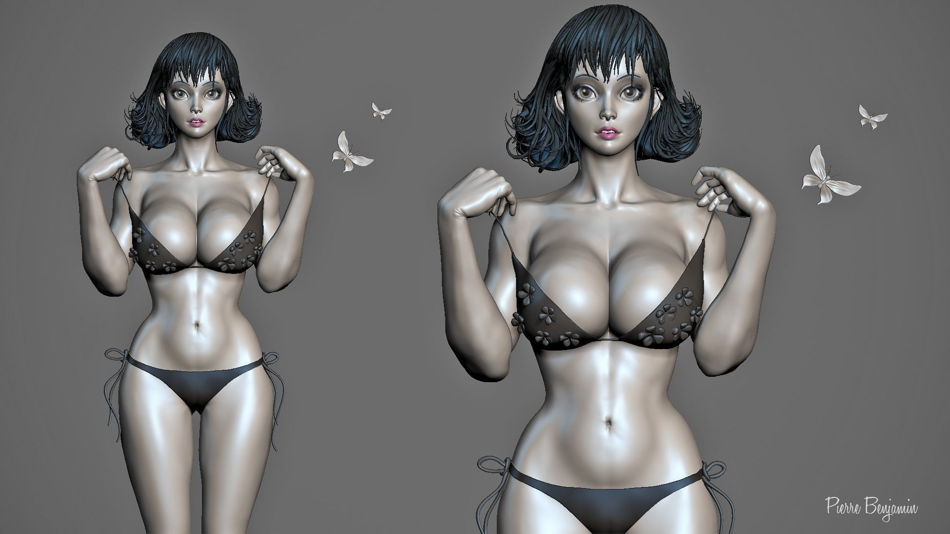 Woman 3d rendering photo