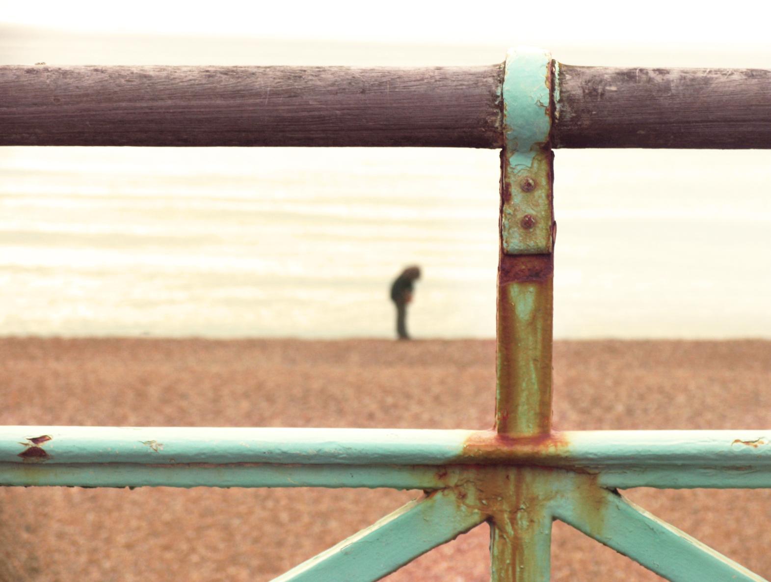 Fence, Rust, Sand, Metal, Beach, HQ Photo