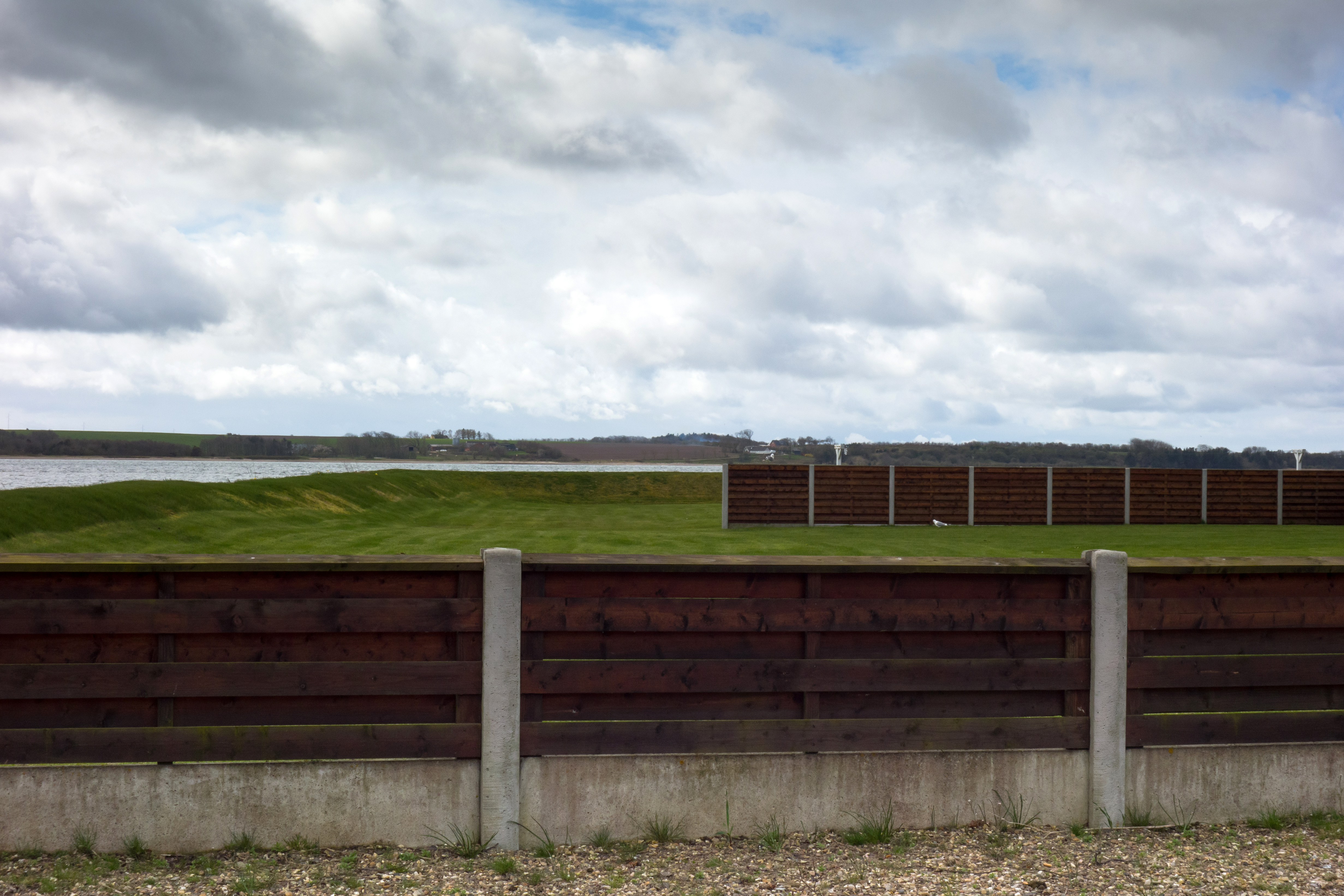 Fence in Branden on the way to Fur, Clouds, Denmark, Fence, Fur, HQ Photo