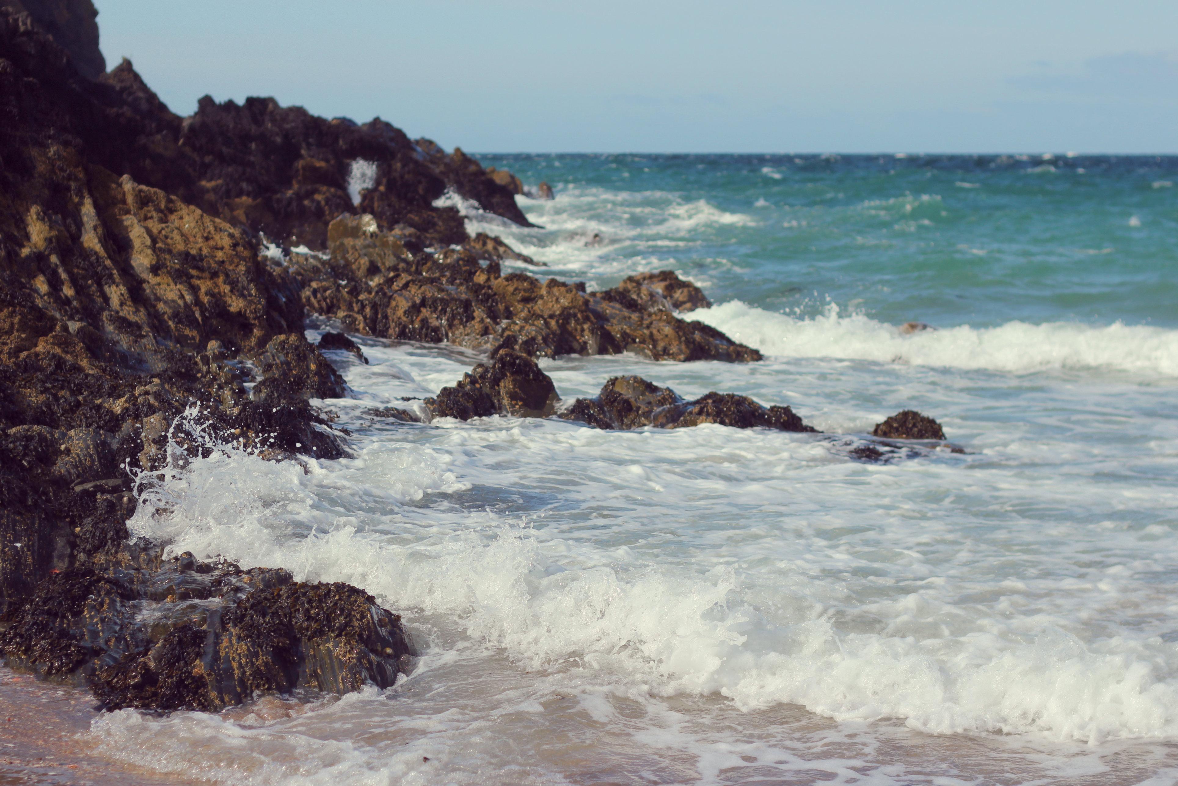 Fenella Beach, Isle of Man, Beach, Coast, Isle of Man, Ocean, HQ Photo