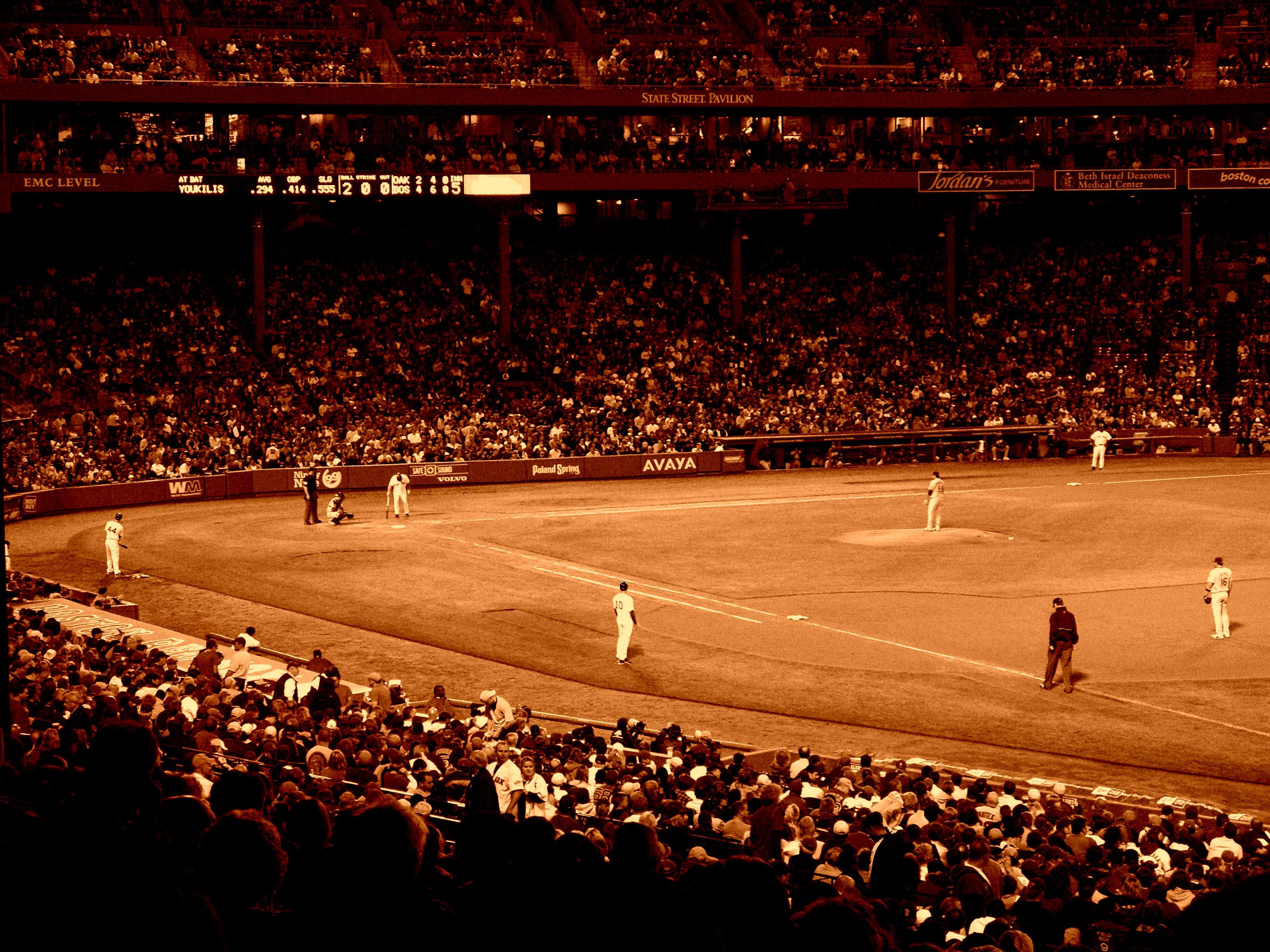 Fenway Park, Ball, Baseball, Boston, Crowds, HQ Photo