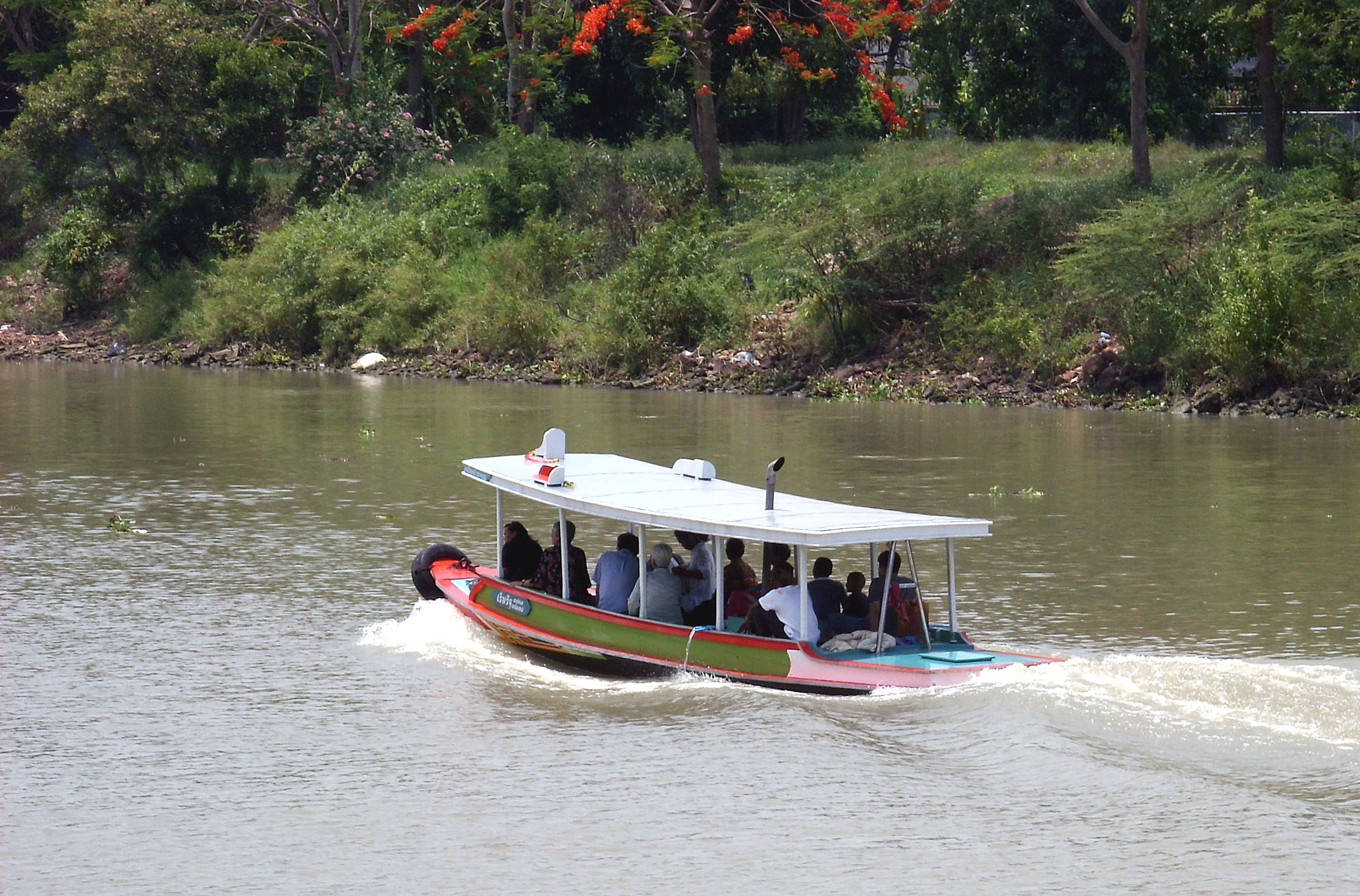 Ferry Boat on the Chaoi Phraya River, Boat, Chaophraya, Ferry, River, HQ Photo