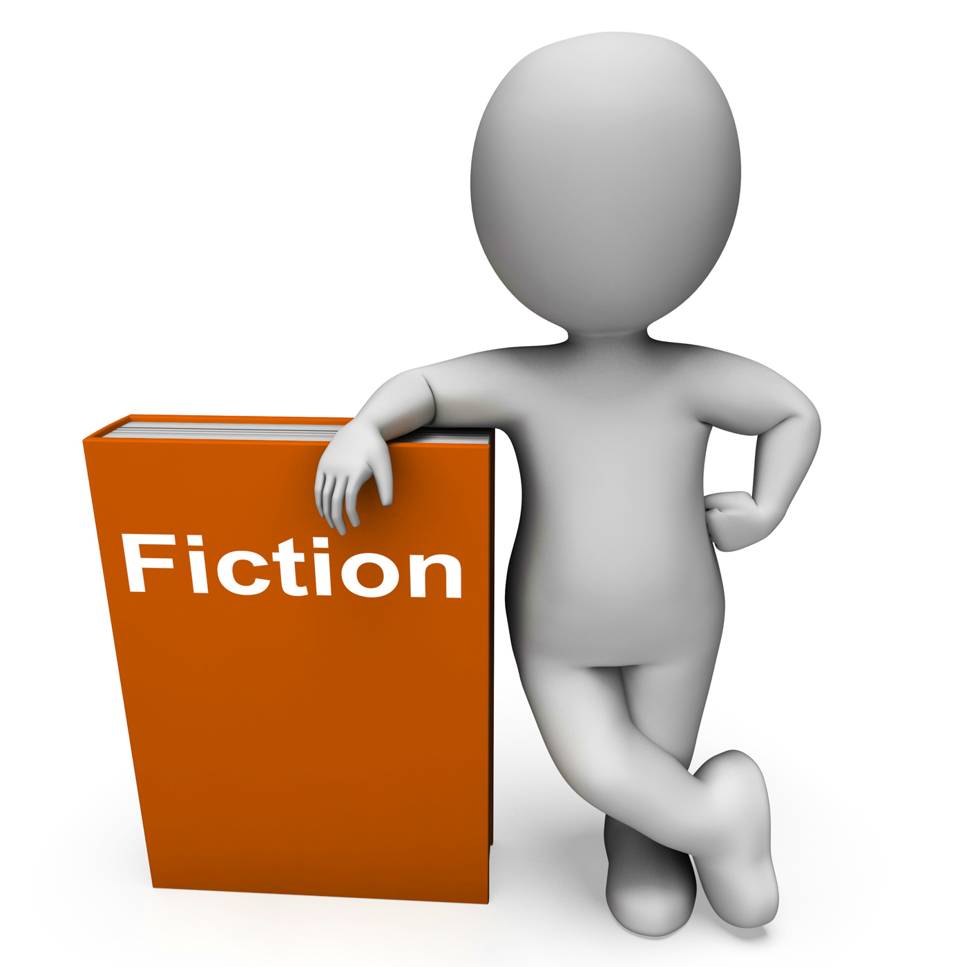 Fiction book and character shows books with imaginary stories photo