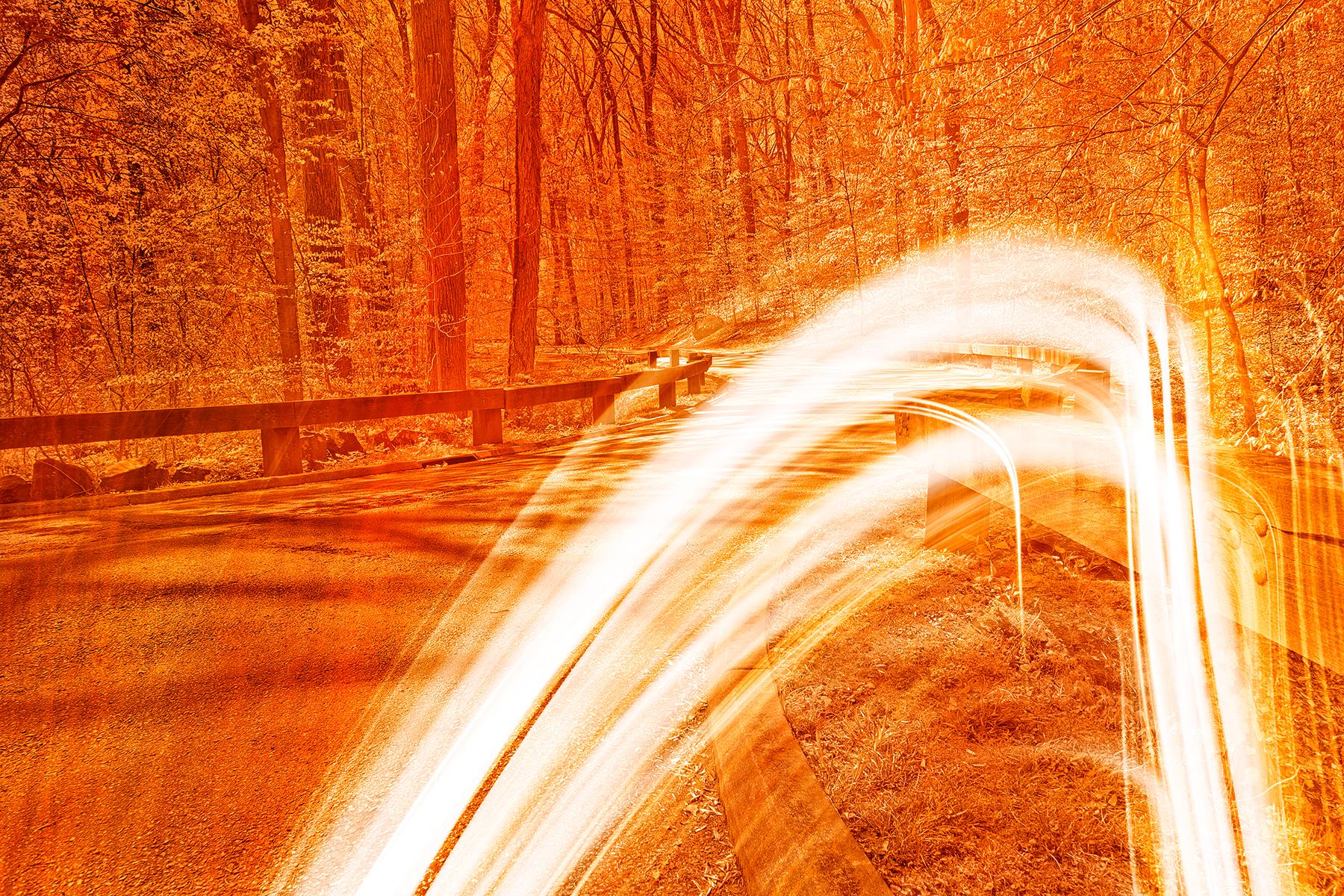 Fiery streaks of rock creek photo