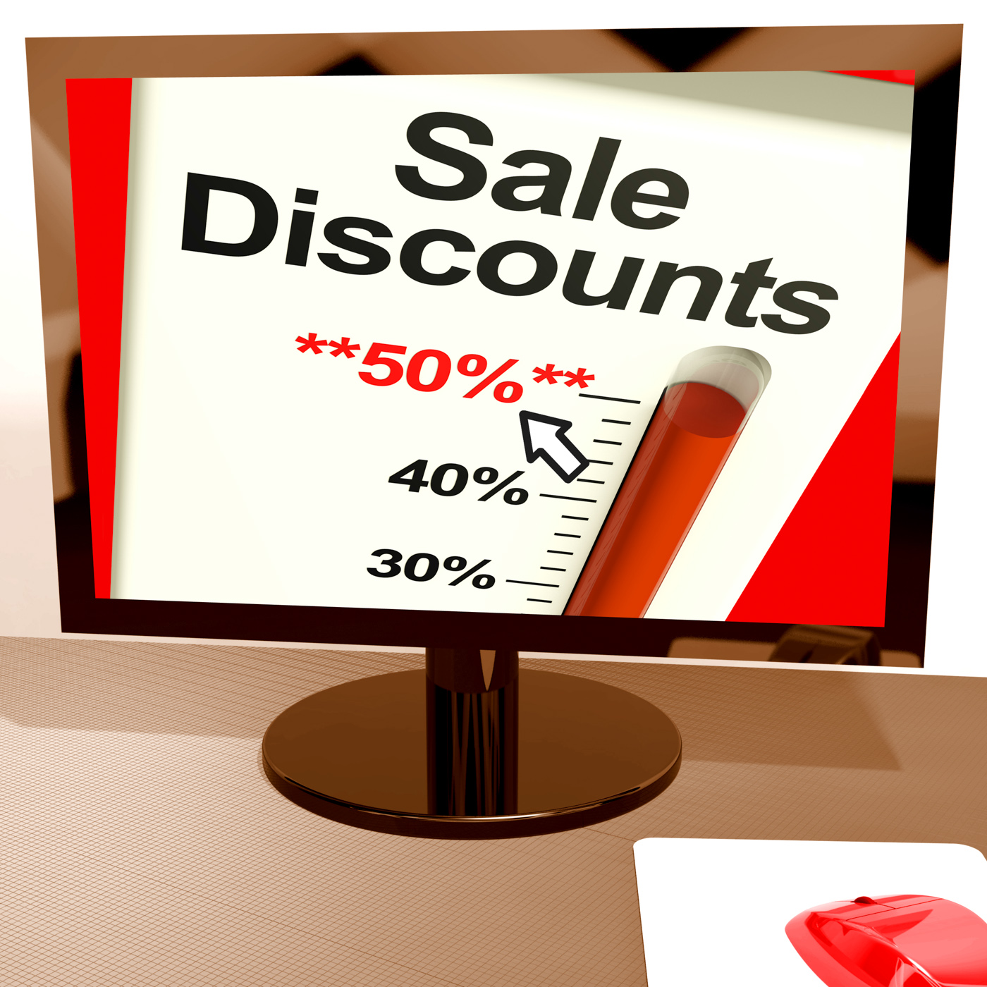 Fifty percent sale discounts showing online bargains photo