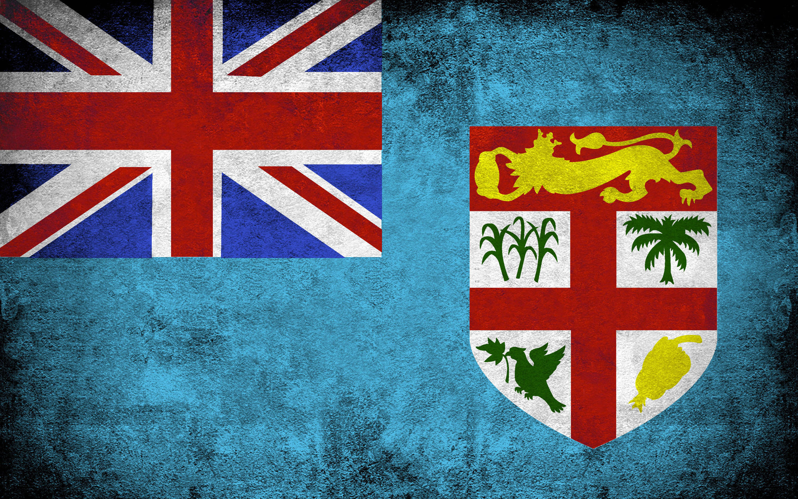 Fiji grunge flag photo
