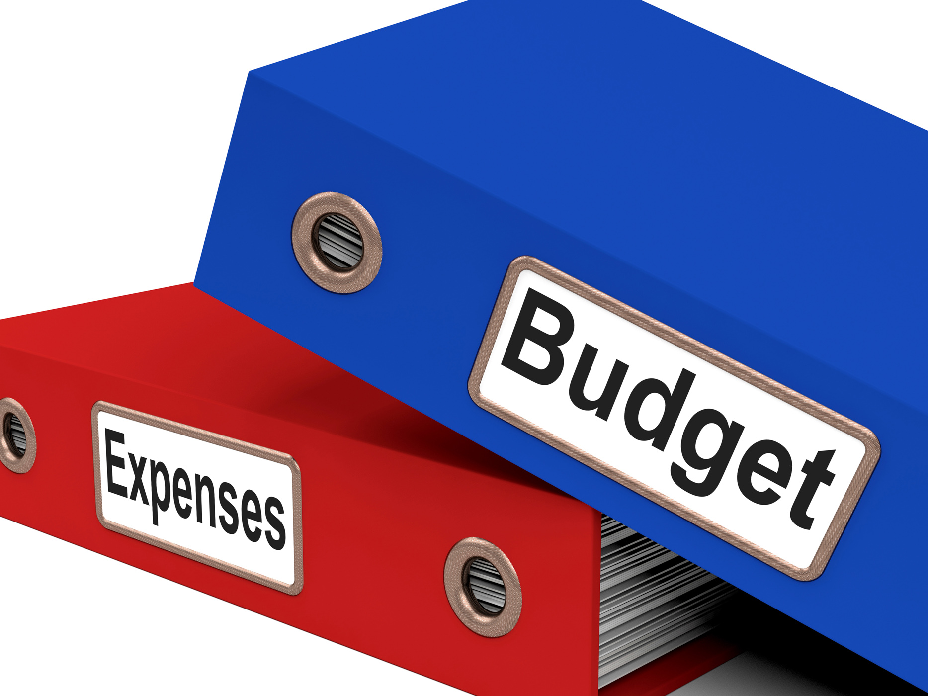 Files budget indicates correspondence paperwork and financial photo