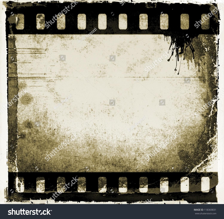 Grunge Film Strip Frame Stock Illustration 118369831 - Shutterstock